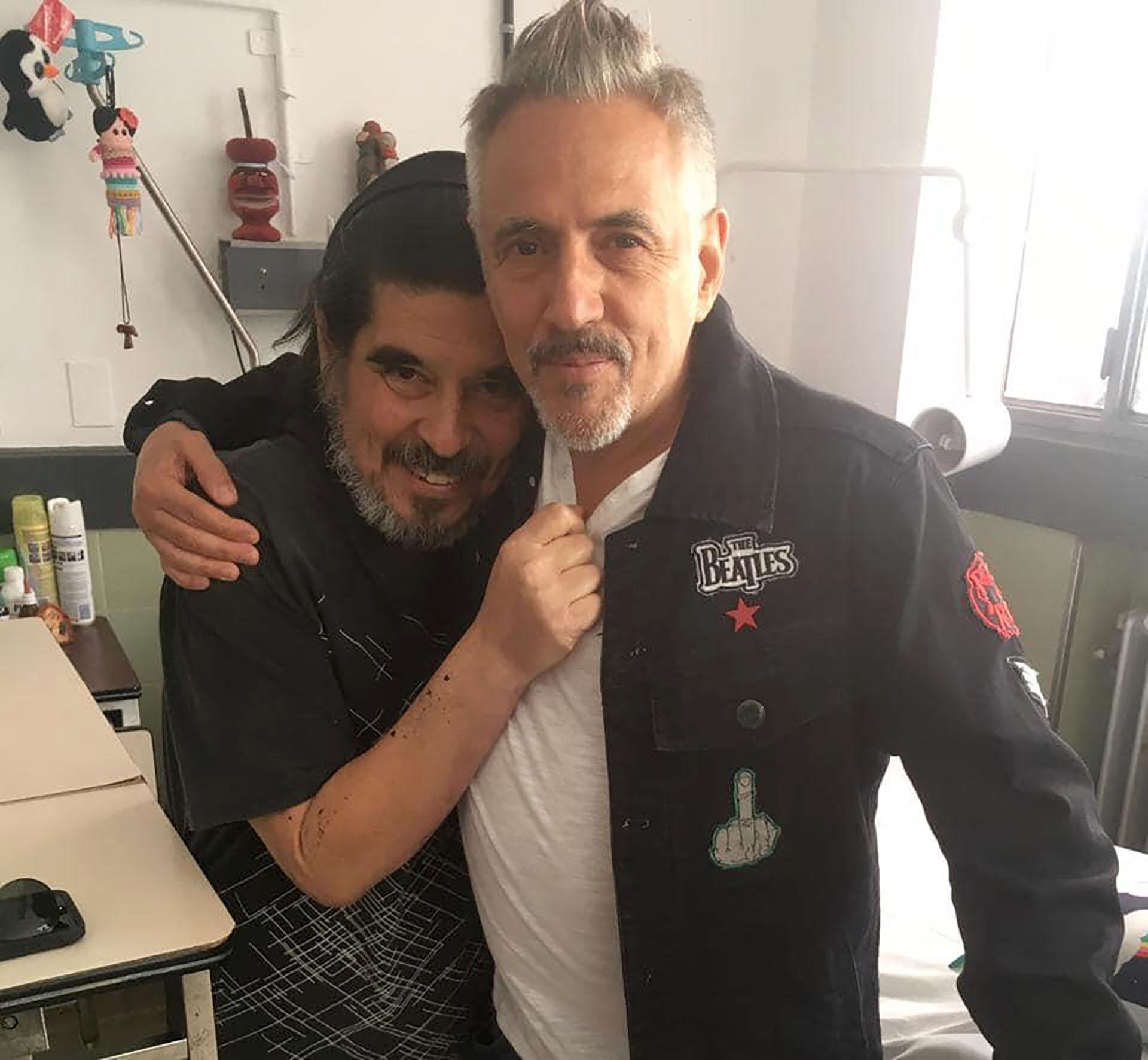 Fabián con Alejandro Lerner