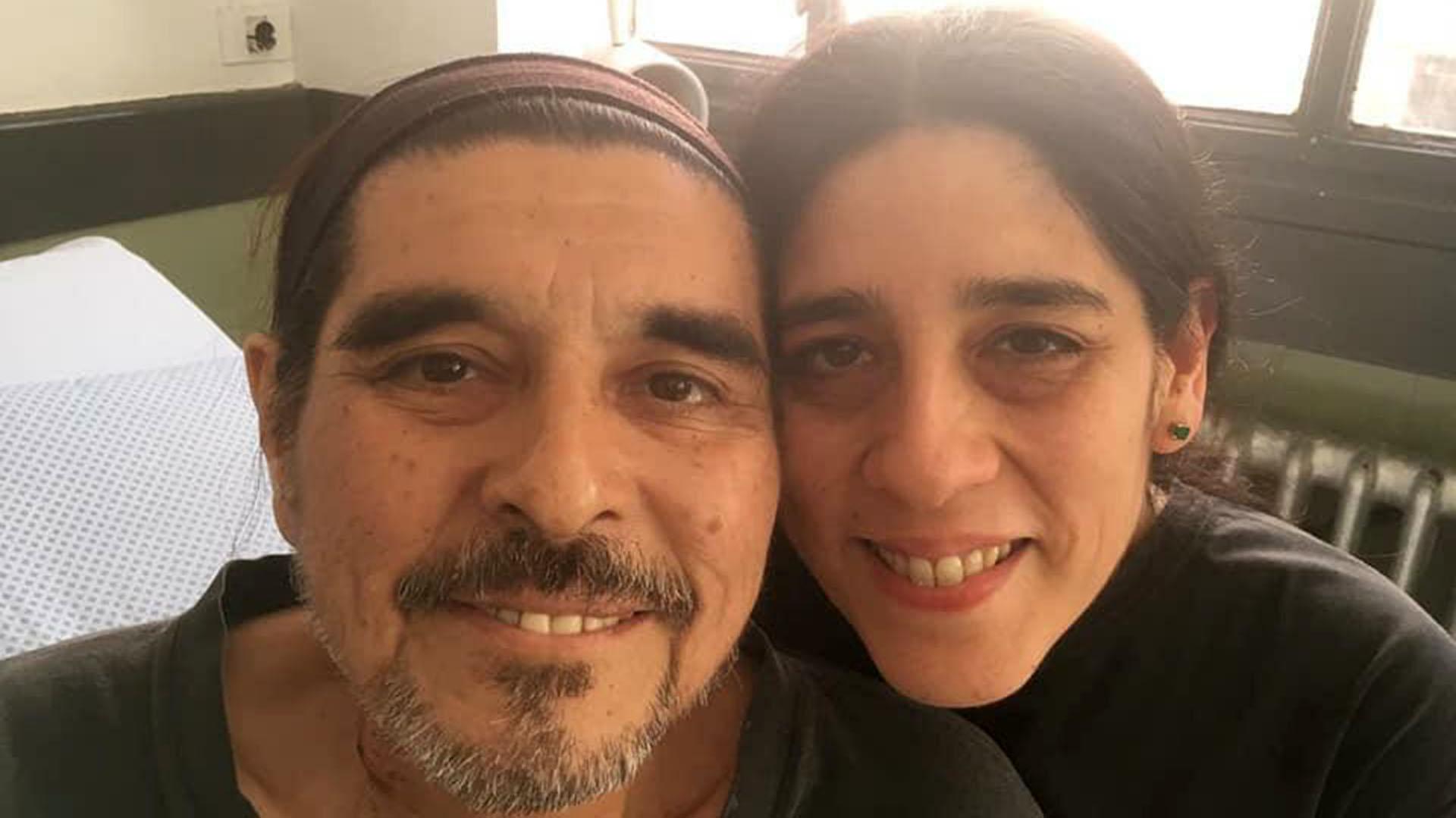 Con su hija Araceli