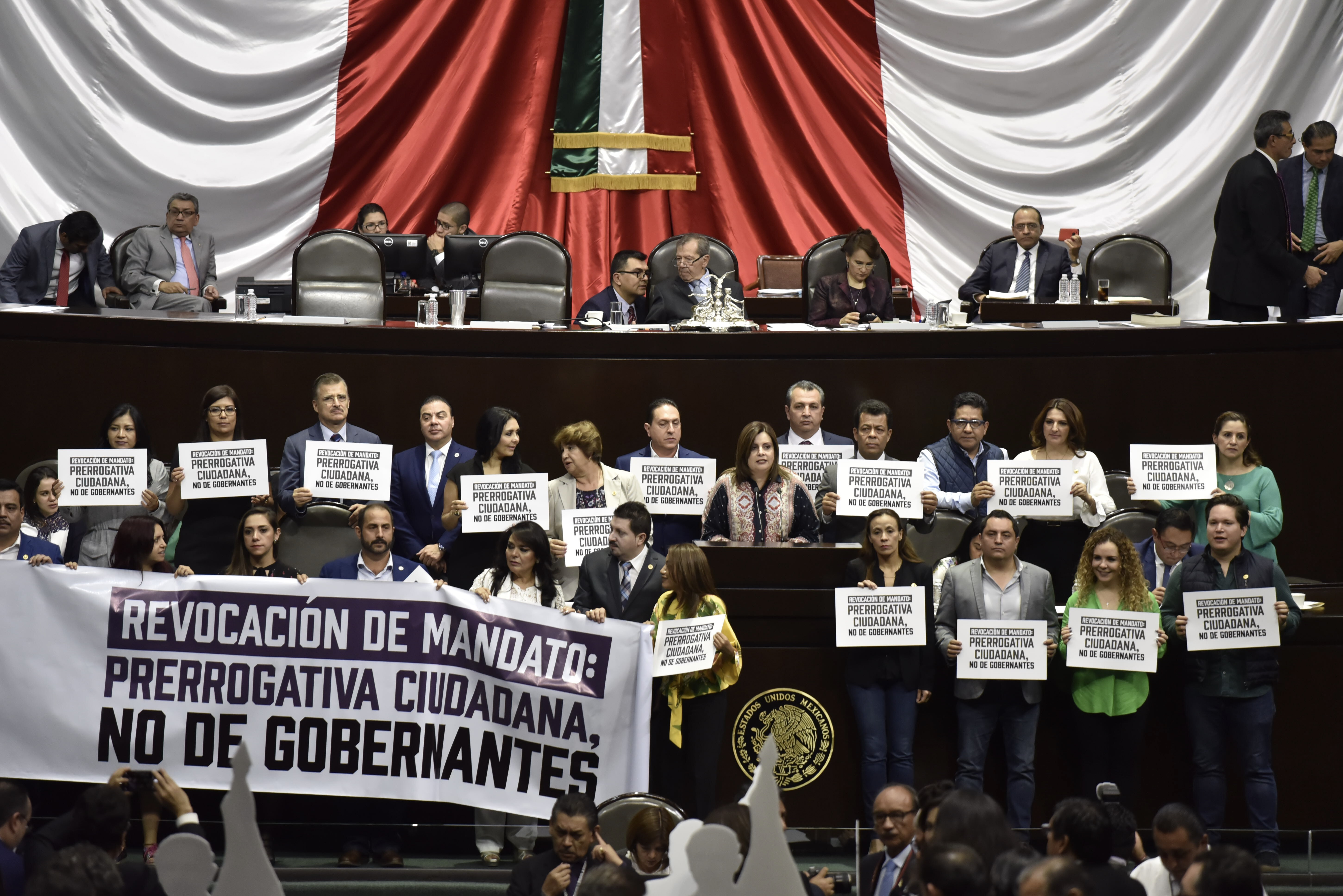 La Cámara de Diputados protesta por la reforma (Foto: Cuartoscuro)