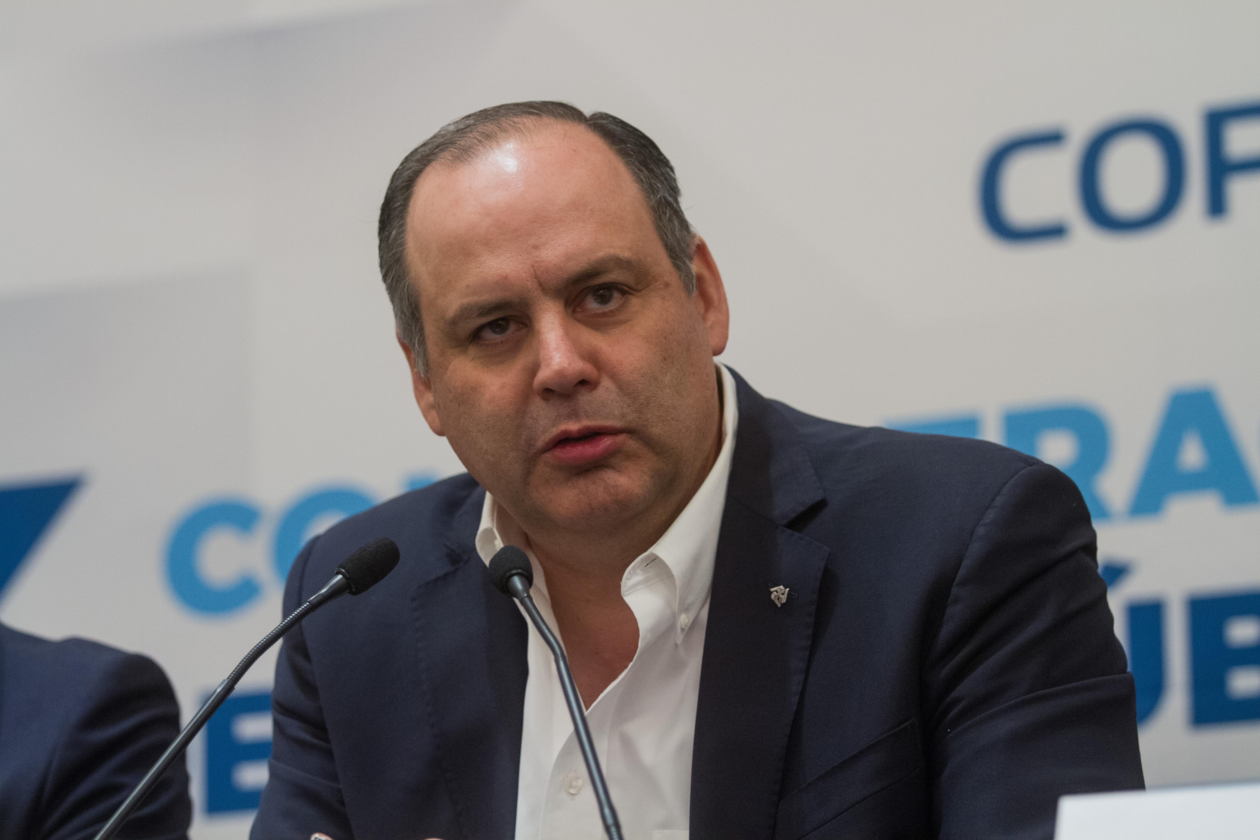 Gustavo de Hoyos, presidente de la Coparmex (Foto: Cuartoscuro)