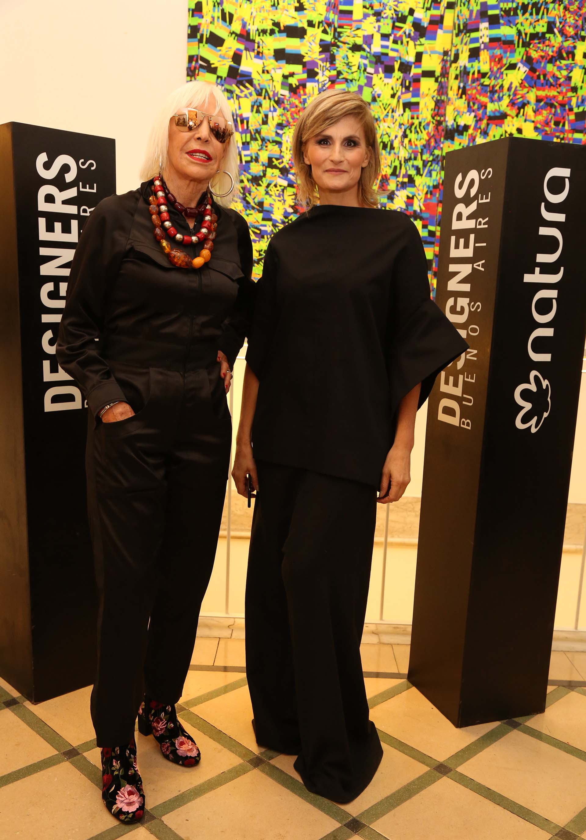 Min Agostini junto a la prestigiosa artista plástica Marta Mínujin ( Marta Giambompaola)
