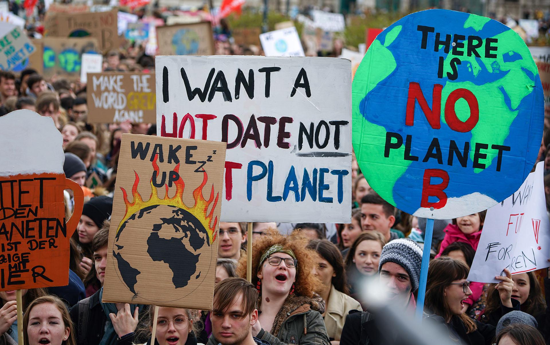 El movimiento Fridays for Future (JOE KLAMAR / AFP)