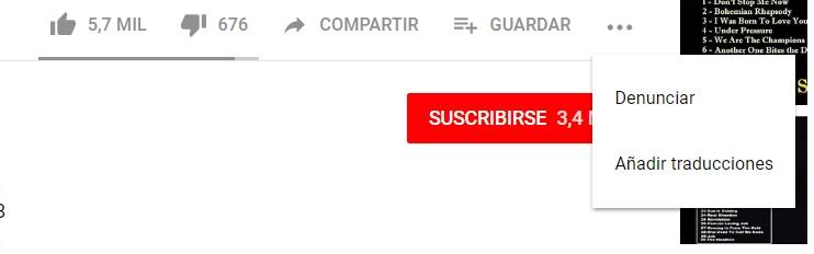 """Para reportar contenido inapropiado en YouTube hay que presionar en los tres puntos al pie del clip y elegir la opción """"denunciar""""."""