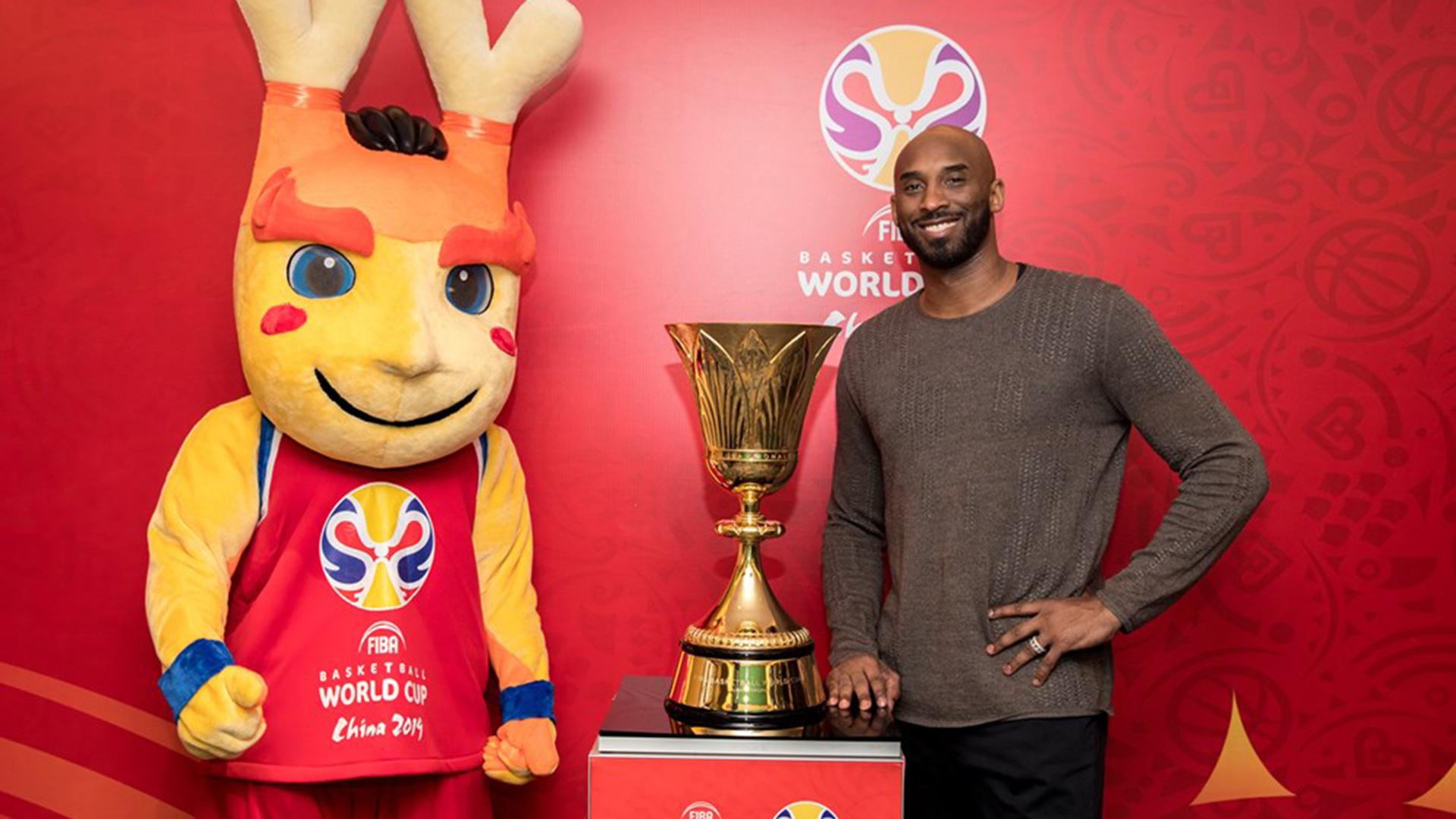 Kobe Bryant, cinco veces campeón de la NBA, es el embajador global del Mundial China 2019. (FIBA)