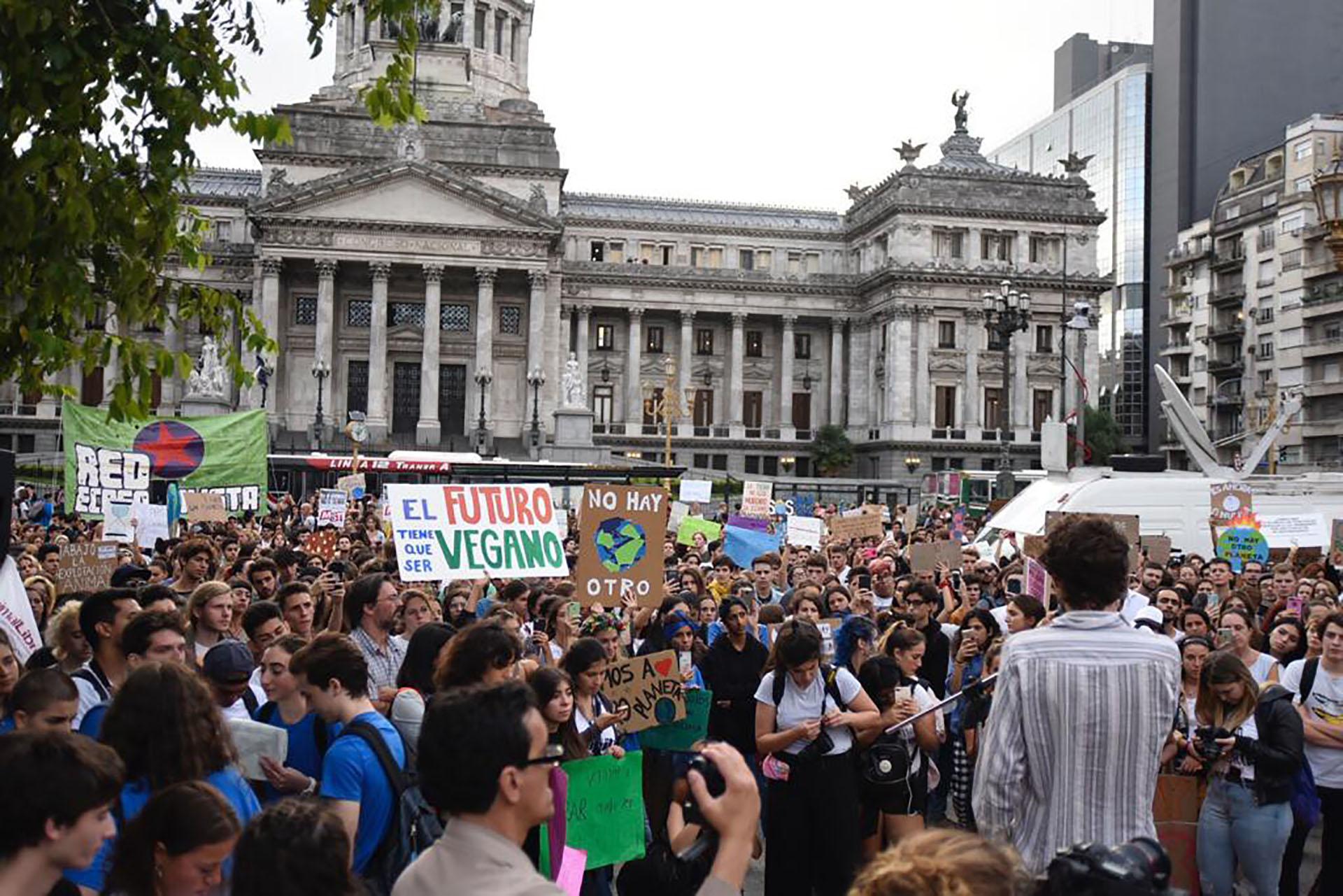 Entre los manifestantes hubo políticos y representantes de ONGs ambientalistas