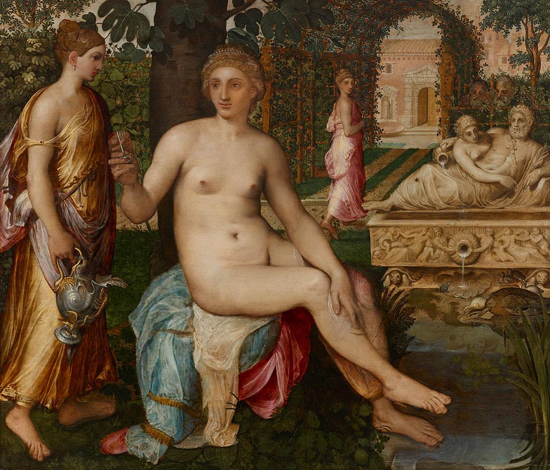 Pintura recientemente descubierta de Frans Floris de Vriendt, 1519-1570, más famoso en su tiempo que Brueghel el viejo. Cuesta alrededor de 700 mil euros. Está en el stand de Carlo Orsi