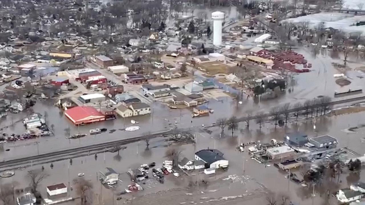 Vista aérea de las inundaciones, el sábado