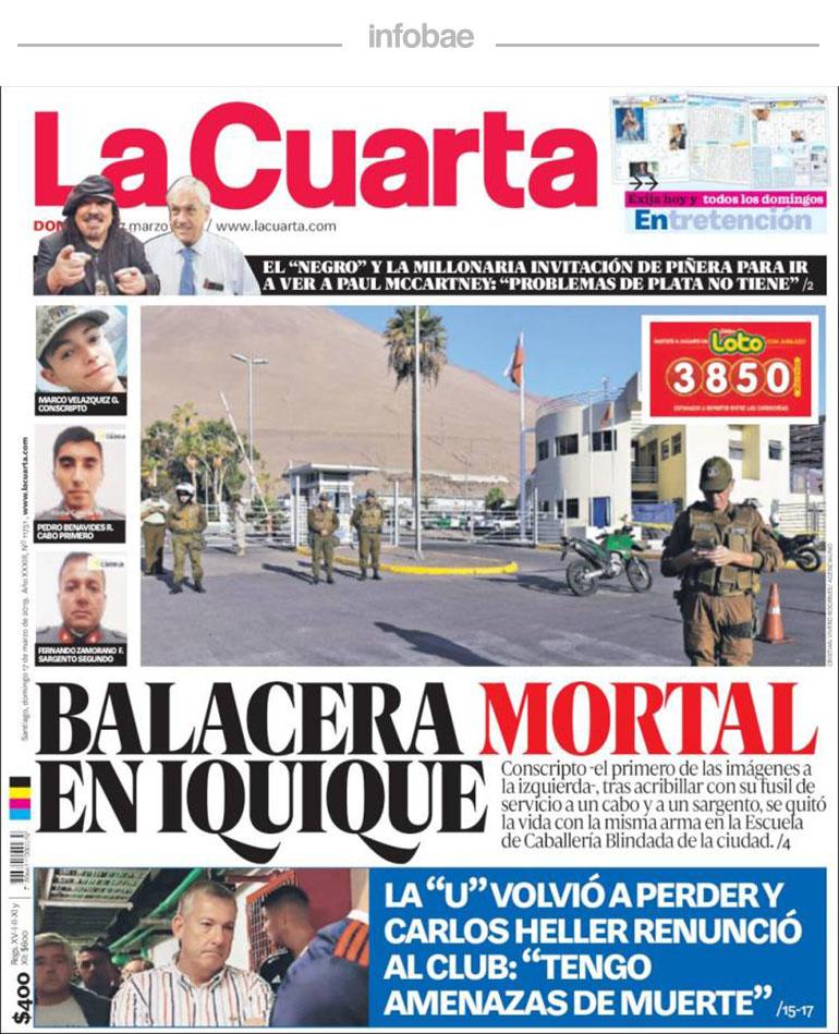 La Cuarta, Chile, Lunes 18 de marzo de 2019 | Aires de la Ciudad