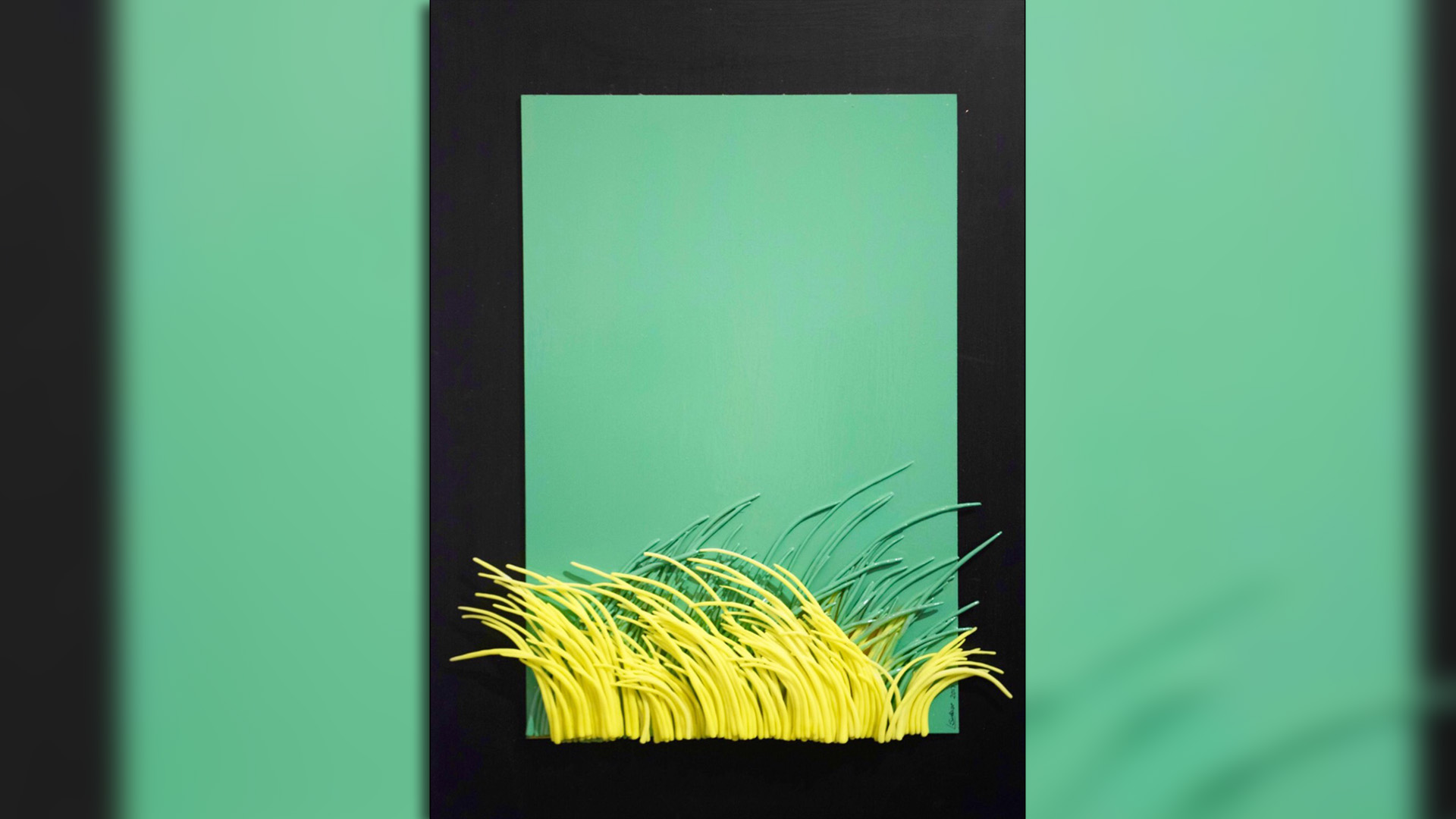 El relieve y los colores, características de la obra de Laura Subise, la artista plástica que promueve la inclusión.