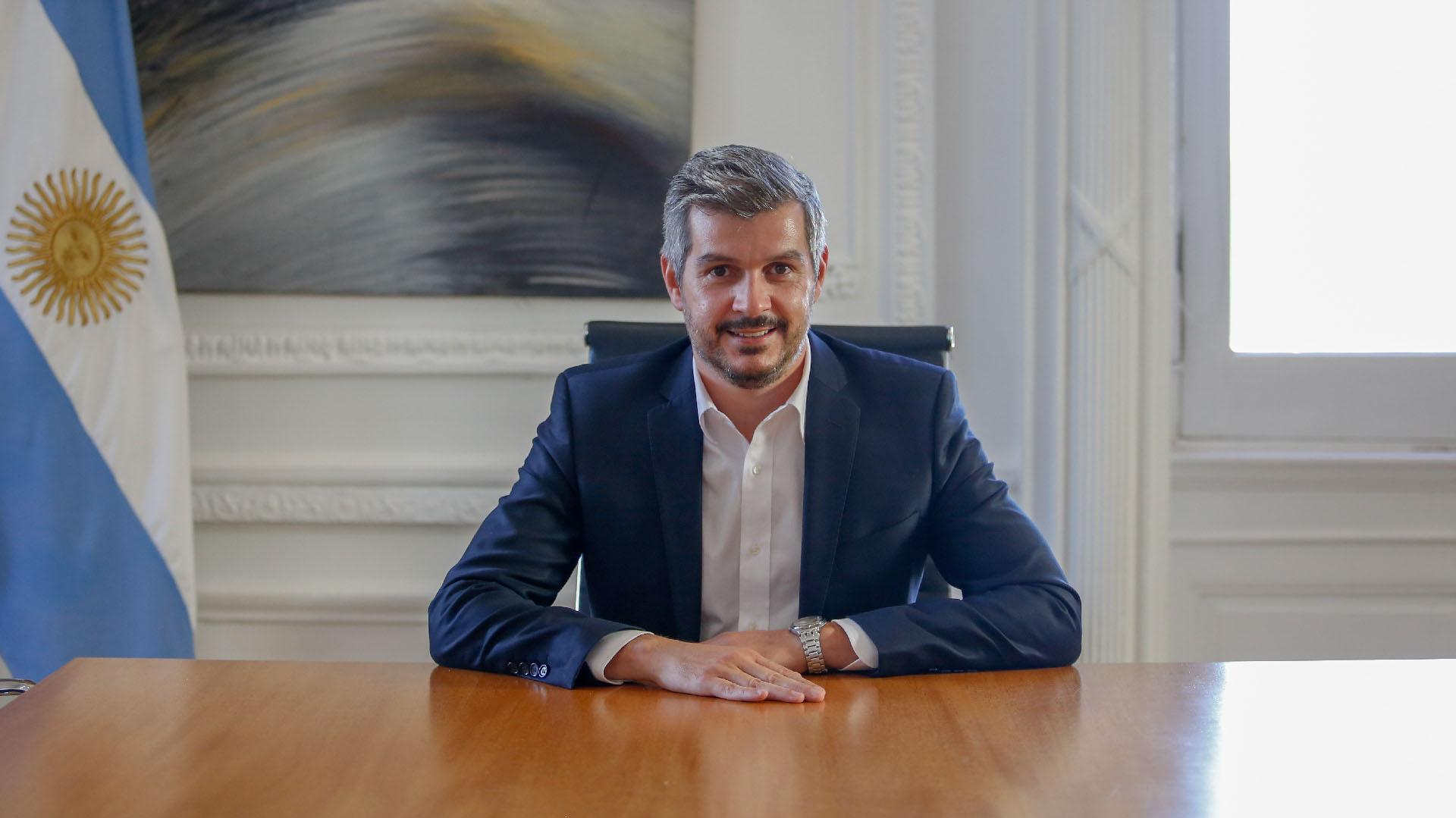 Marcos Peña sonríe. Es optimista sobre el futuro de Cambiemos (Nicolás Aboaf)
