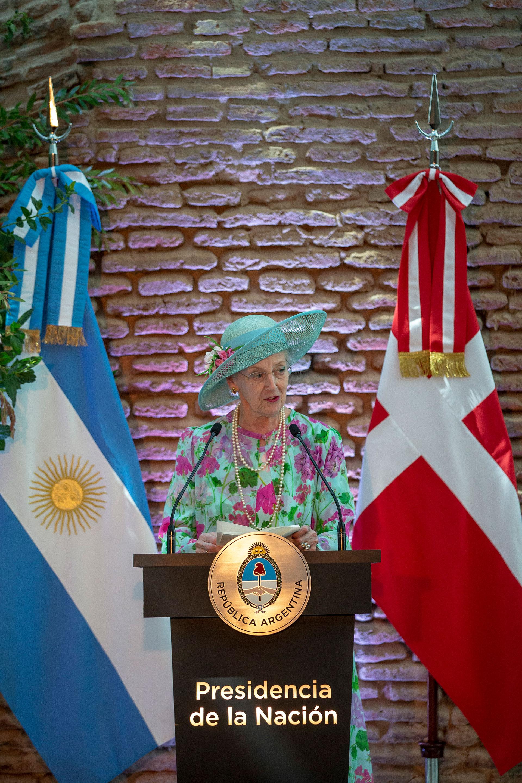 Margarita II de Dinamarca ratificó la decisión trabajar para reforzar y ampliar los vínculos de cooperación, intercambio y amistad entre Argentina y su país