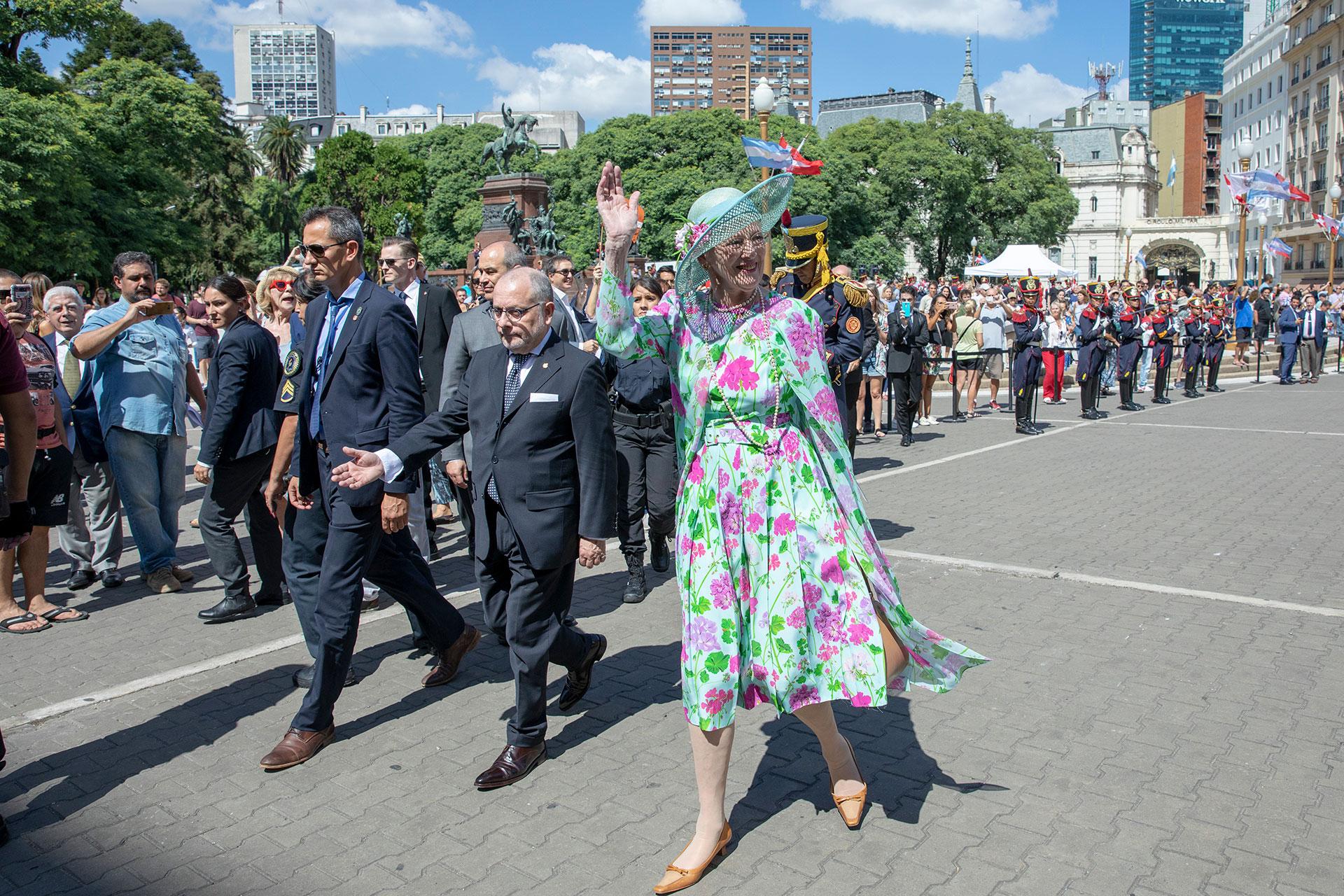 Después de 55 años, la reina de Dinamarca Margarita II regresó a la Argentina en el marco de una visita de Estado de tres días