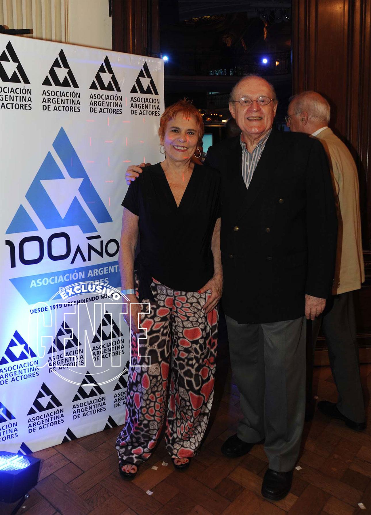 Leonor Manso y Miguel Jordán en el festejo del centenario de los actores. Foto: Enrique García Medina/GENTE