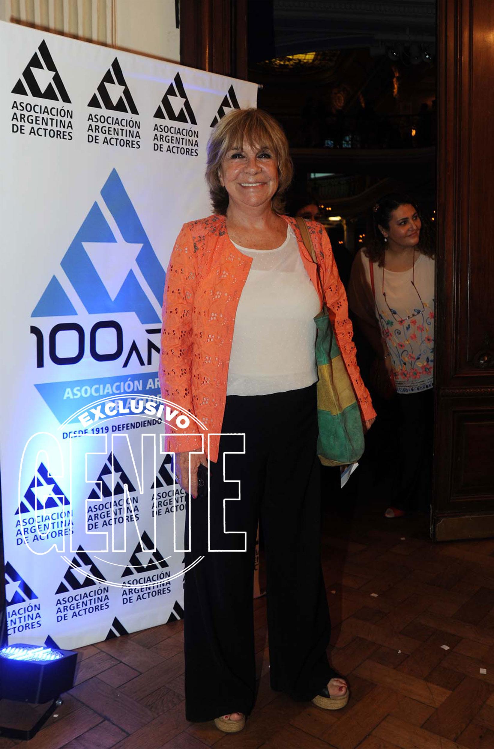 Virginia Lago, en la celebración de los actores en el Palacio San Miguel. Foto: Enrique García Medina/GENTE