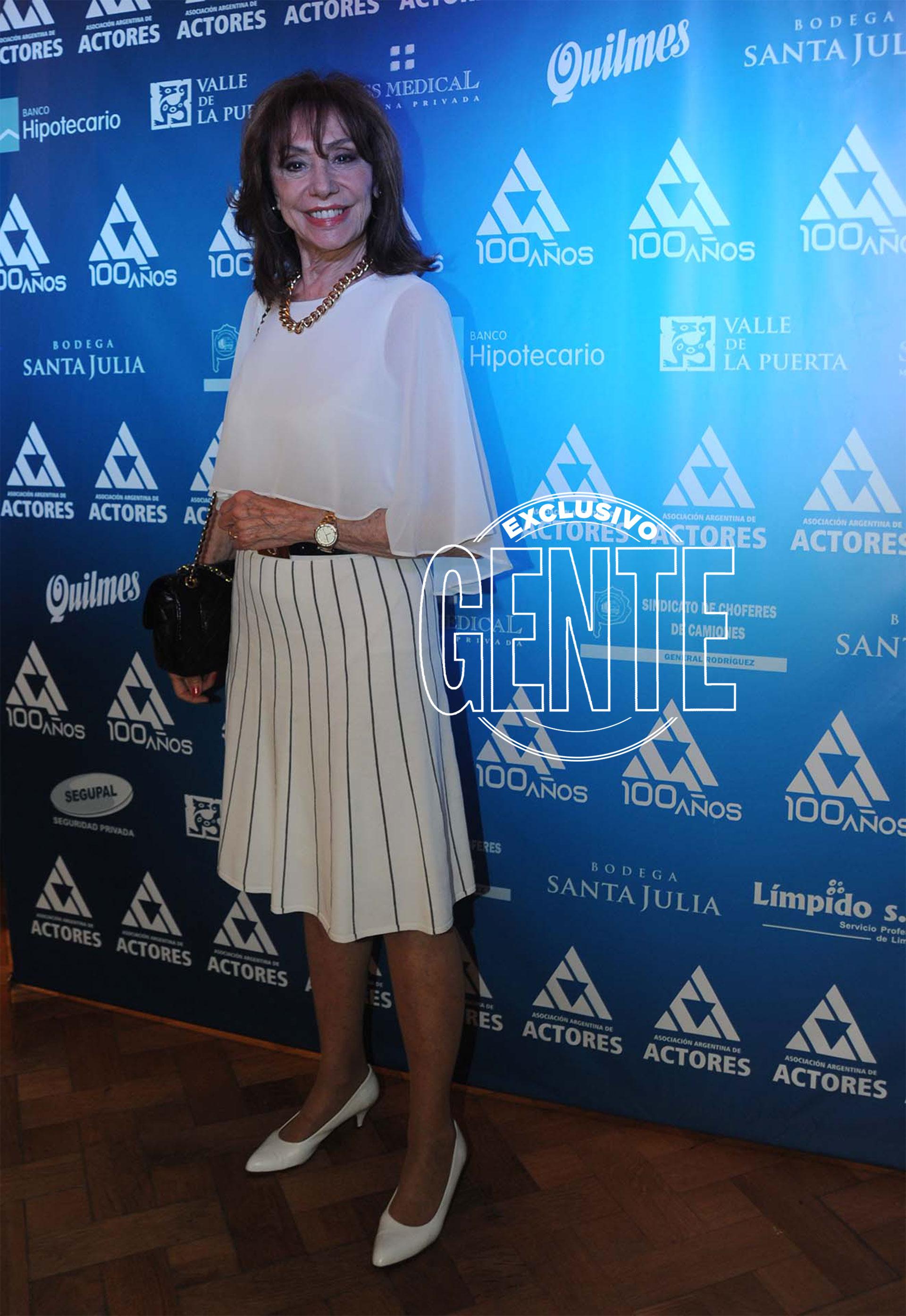 Martha Bianchi, otra de las grandes figuras que estuvieron en el festejo. Foto: Enrique García Medina/GENTE