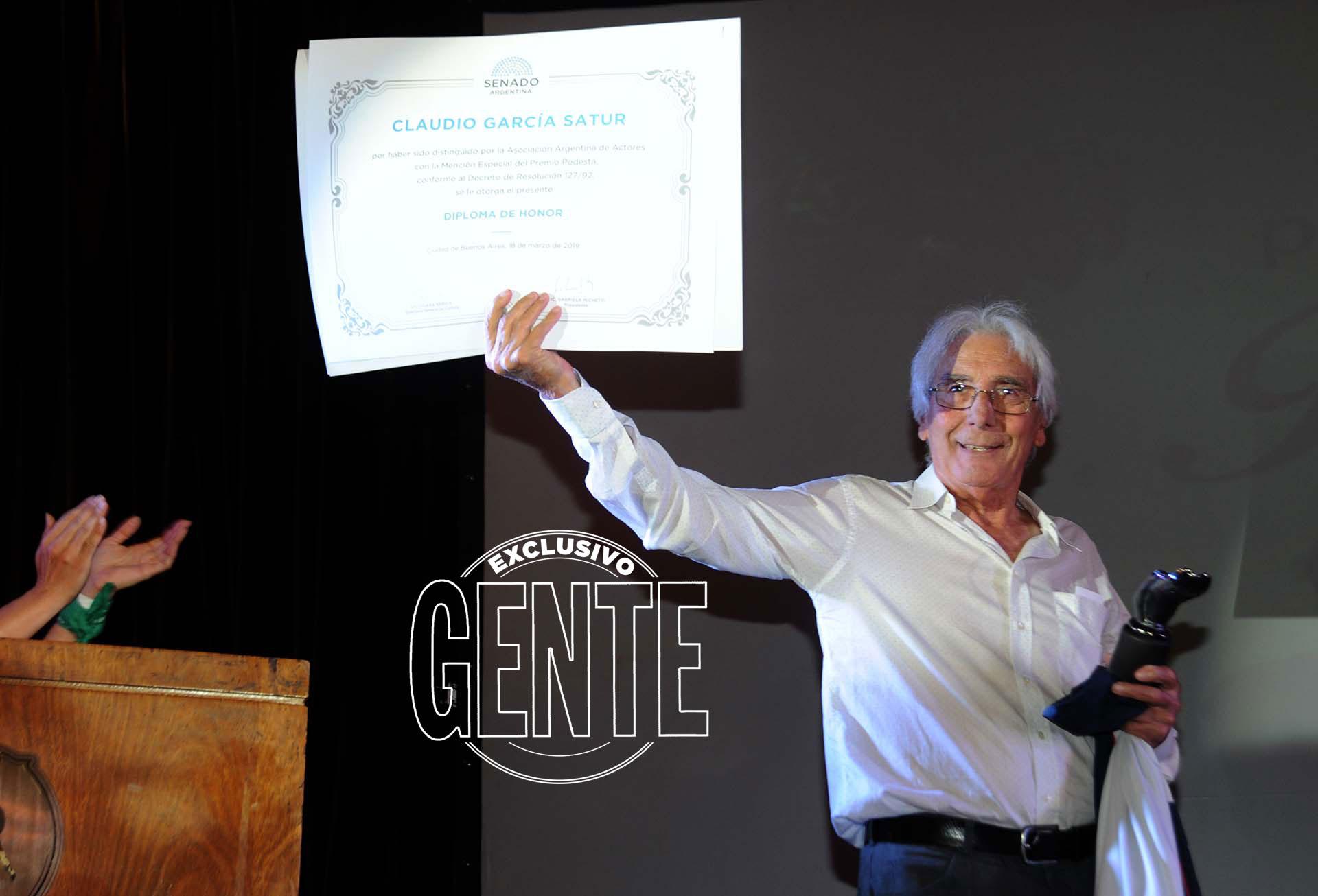 Claudio García Satur recibió un merecido homenaje. Foto: Enrique García Medina/GENTE