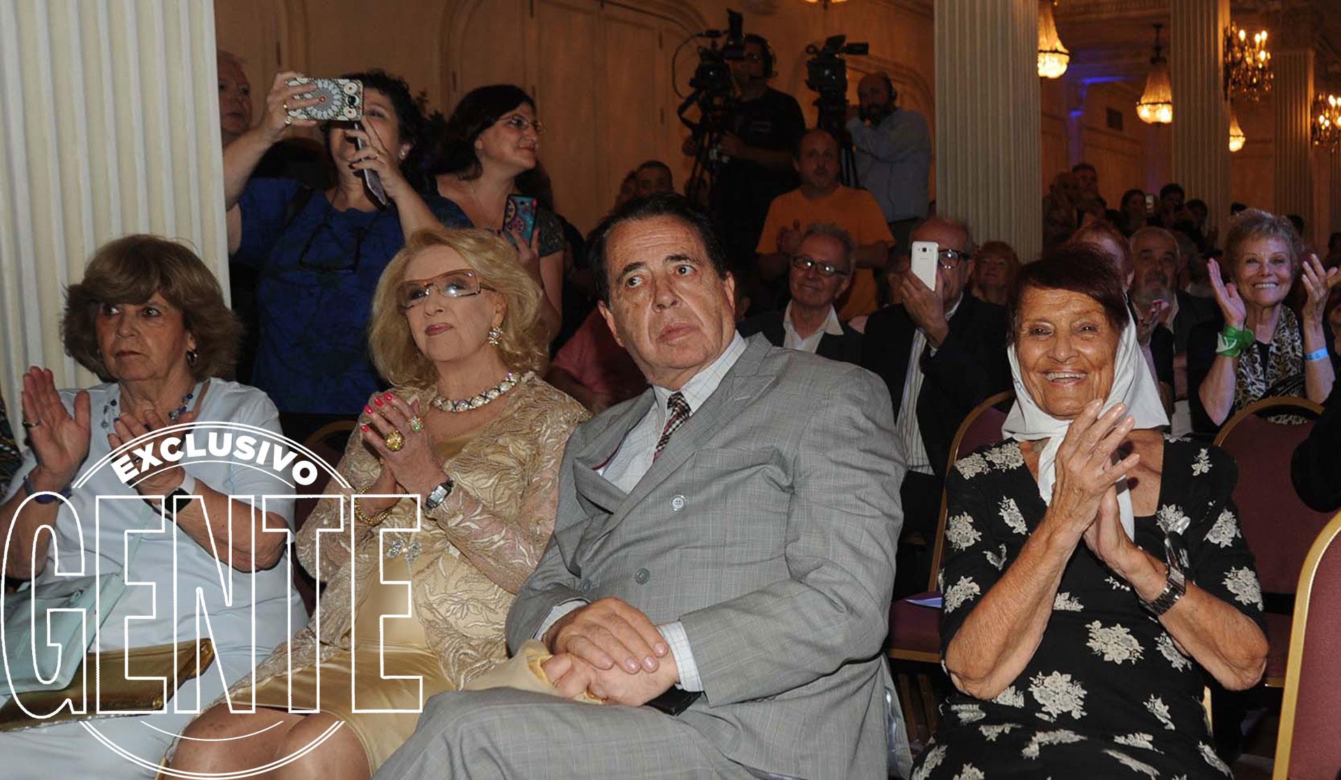 Mirtha Legrand, Héctor Vidal Rivas y la Madre de Plaza de Mayo Taty Almeida. Foto: Enrique García Medina/GENTE