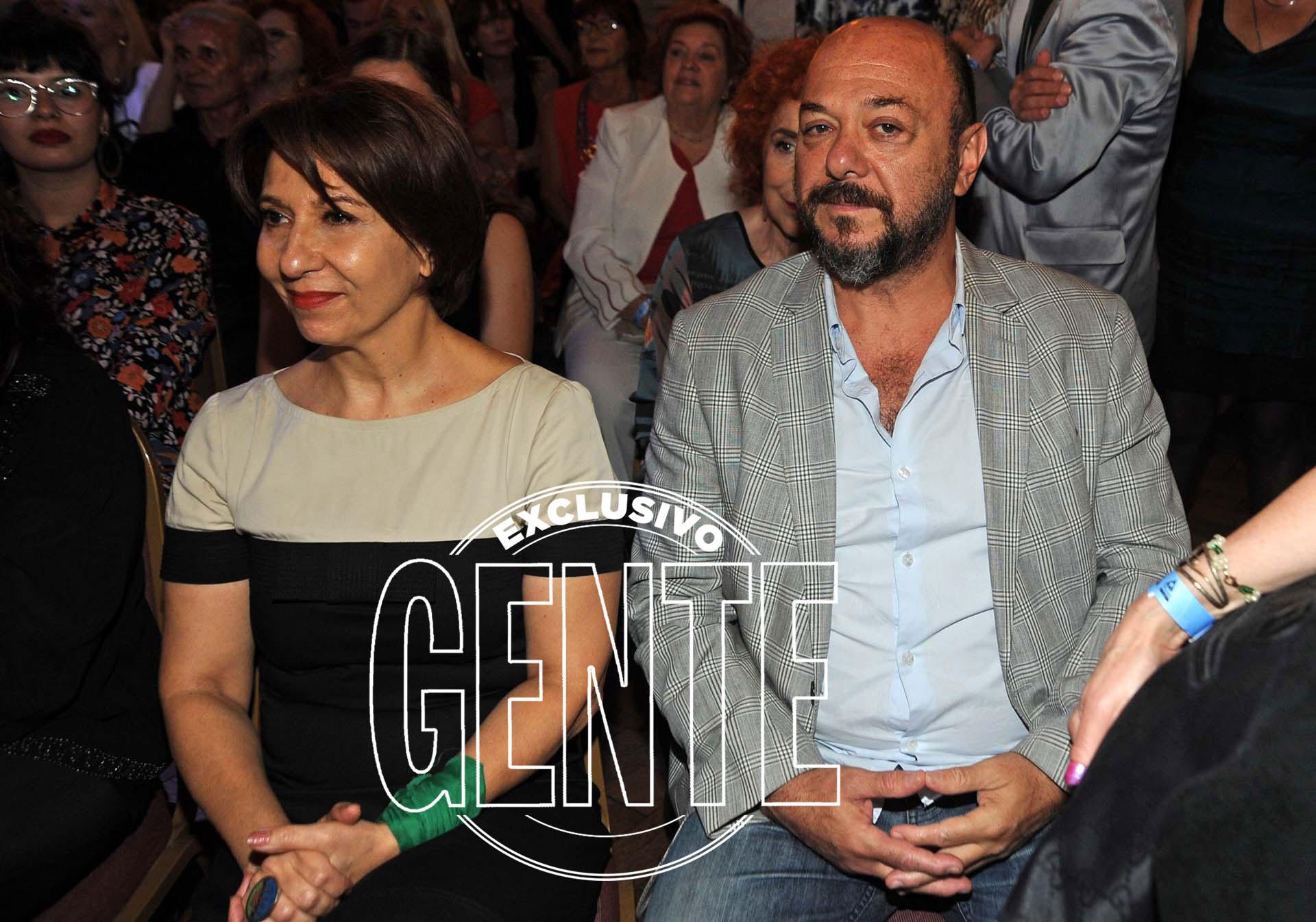 Alejandra Flechner junto a Luis Ziembrowski, en la velada que reunió a los actores. Foto: Enrique García Medina/GENTE