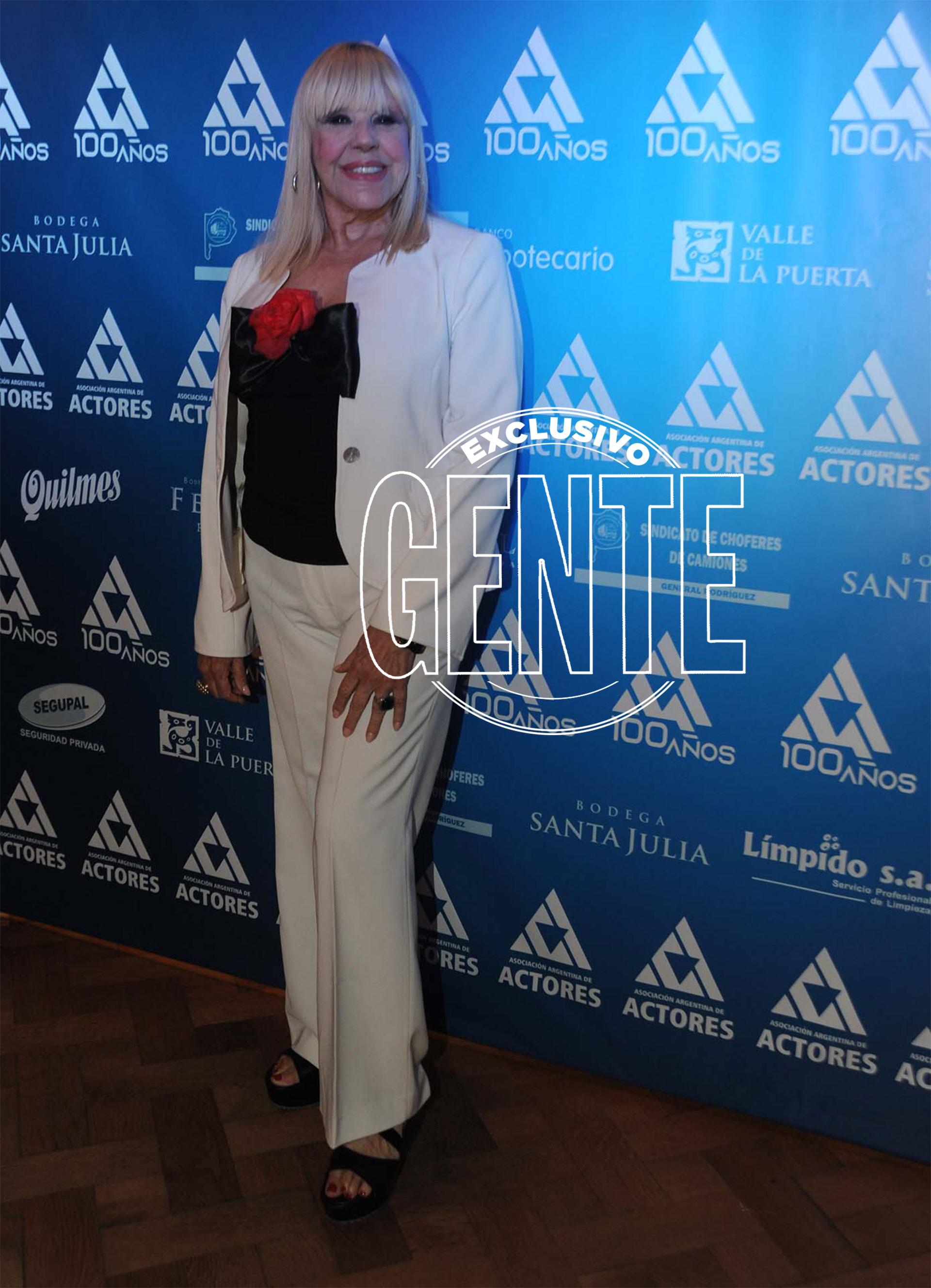 Doris del Valle en la fiesta por el siglo de la Asociación Argentina de Actores. Foto: Enrique García Medina/GENTE