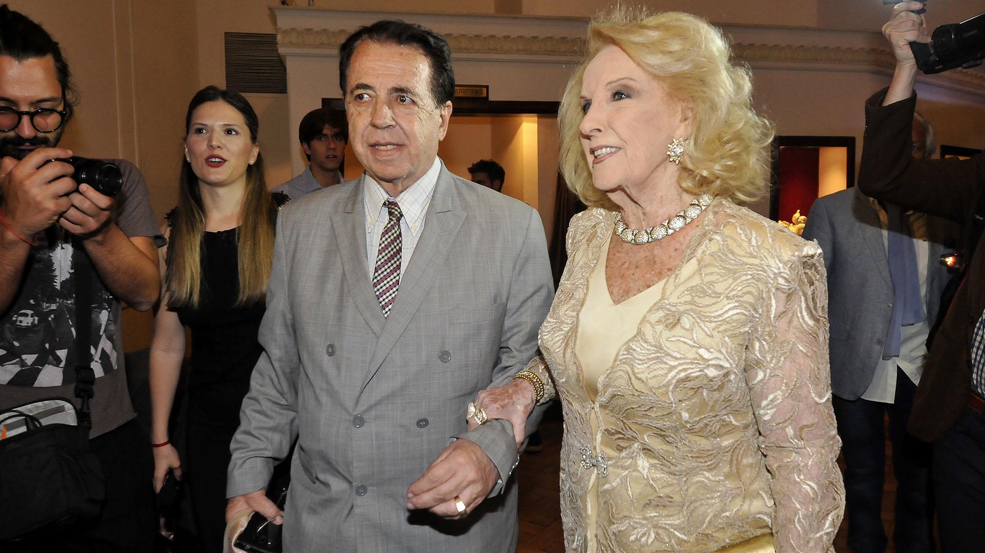 Mirtha Legrand, acompañada por Héctor Vidal Rivas (Créditos: Verónica Guerman / Teleshow)