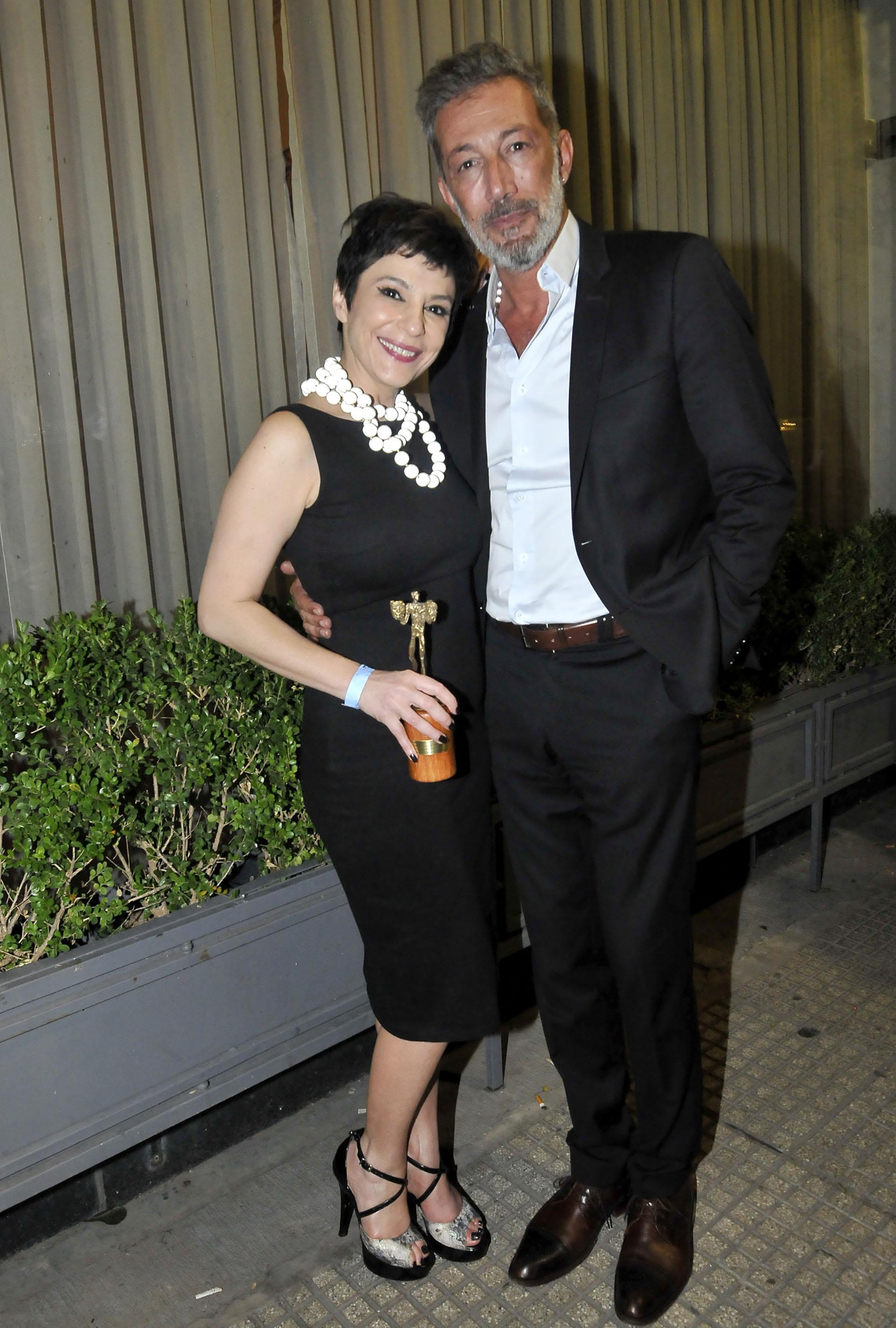 Carolina Papaleo y su pareja, Miguel Cuberos (Créditos: Verónica Guerman / Teleshow)