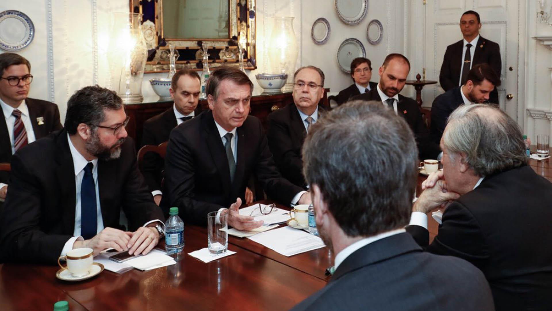 Jair Bolsonaro se reunió con Luis Almagro (Twitter: @BolsonaroSP)