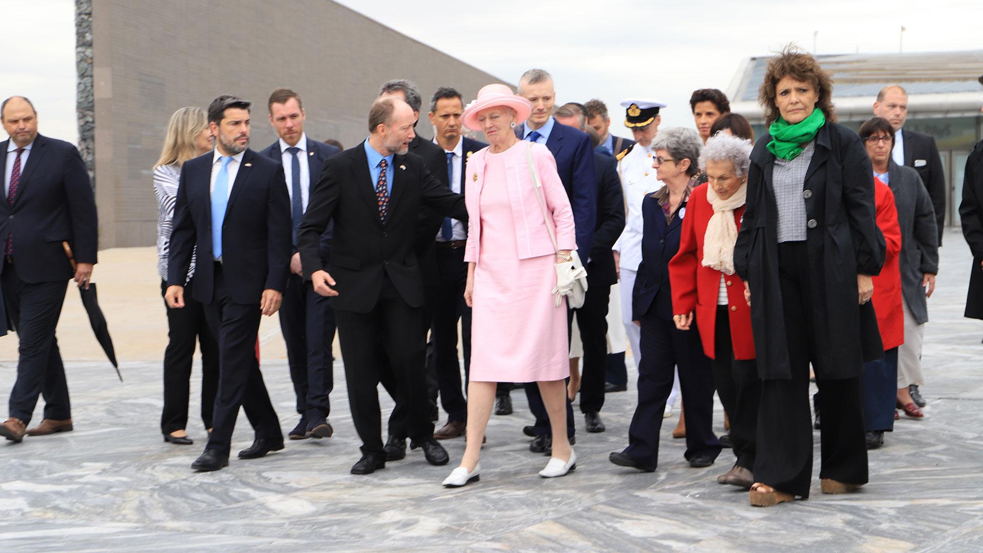 El recorrido fue en el marco de la visita de Estado de la monarca danesa
