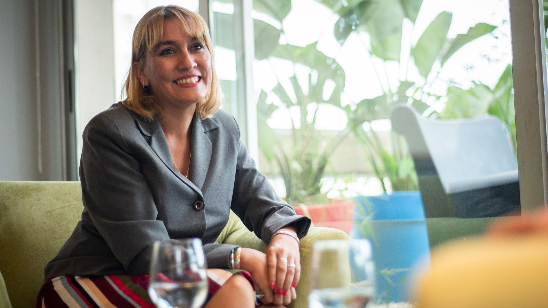 La candidata de Cambiemos, Lorenza Matzen (Manuel Cortina)