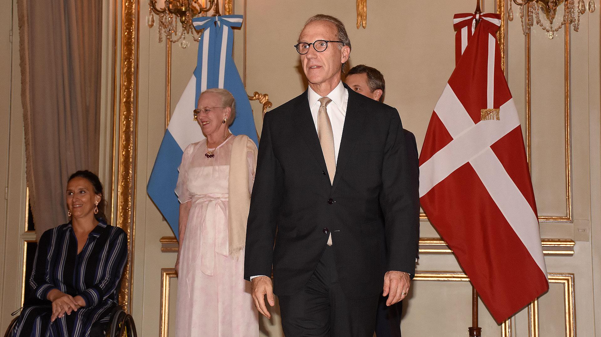 El presidente de la Corte Suprema de la Nación, Carlos Rosenkrantz, entre los invitados de honor a la recepción en el hotel Alvear