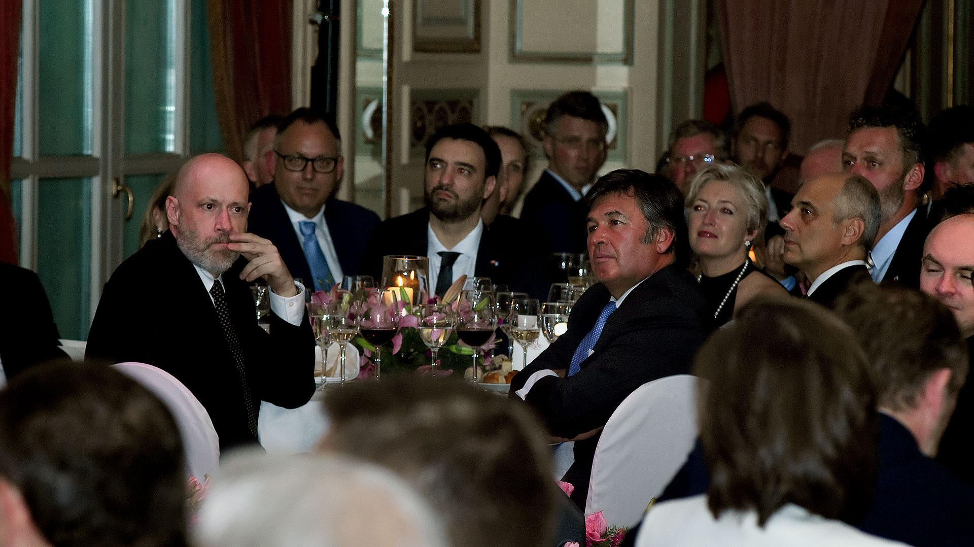 Daniel Pelegrina, titular de la Sociedad Rural, entre los invitados