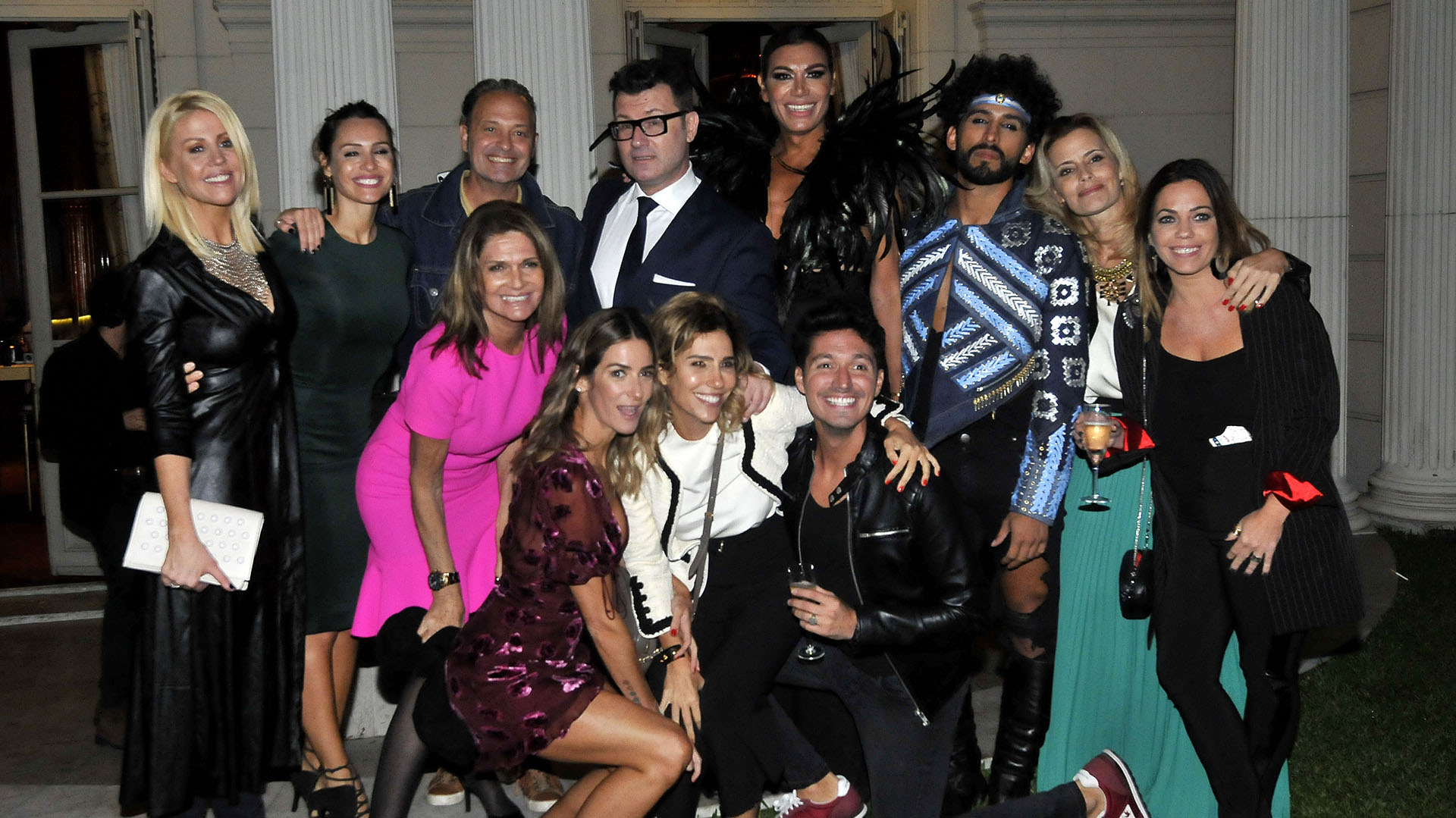 Oliveri estuvo acompañado por muchas celebridades en el evento