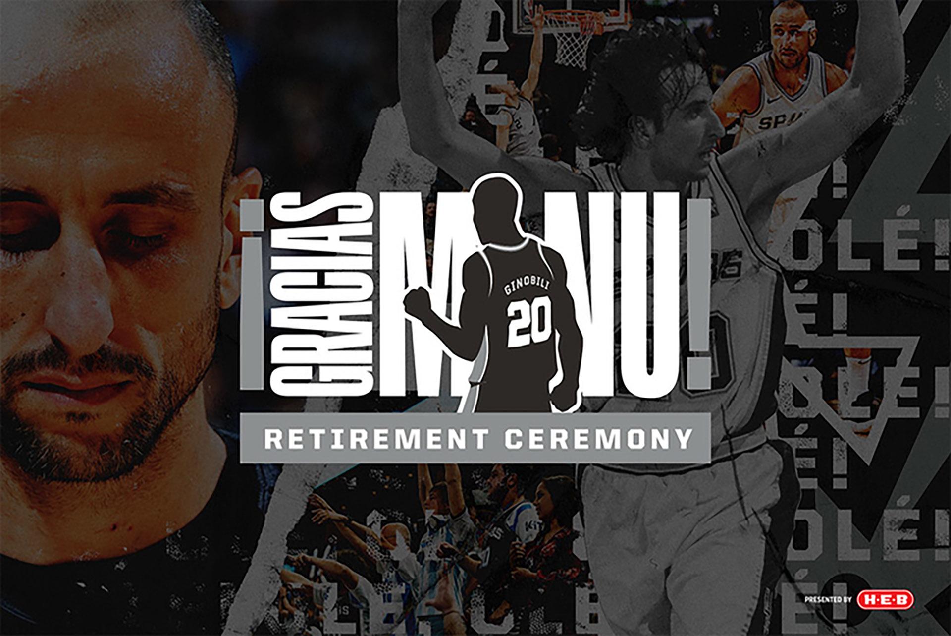 El 28 de marzo, ante Cleveland Cavaliers, San Antonio Spurs retirará la número 20 de Manu Ginóbili