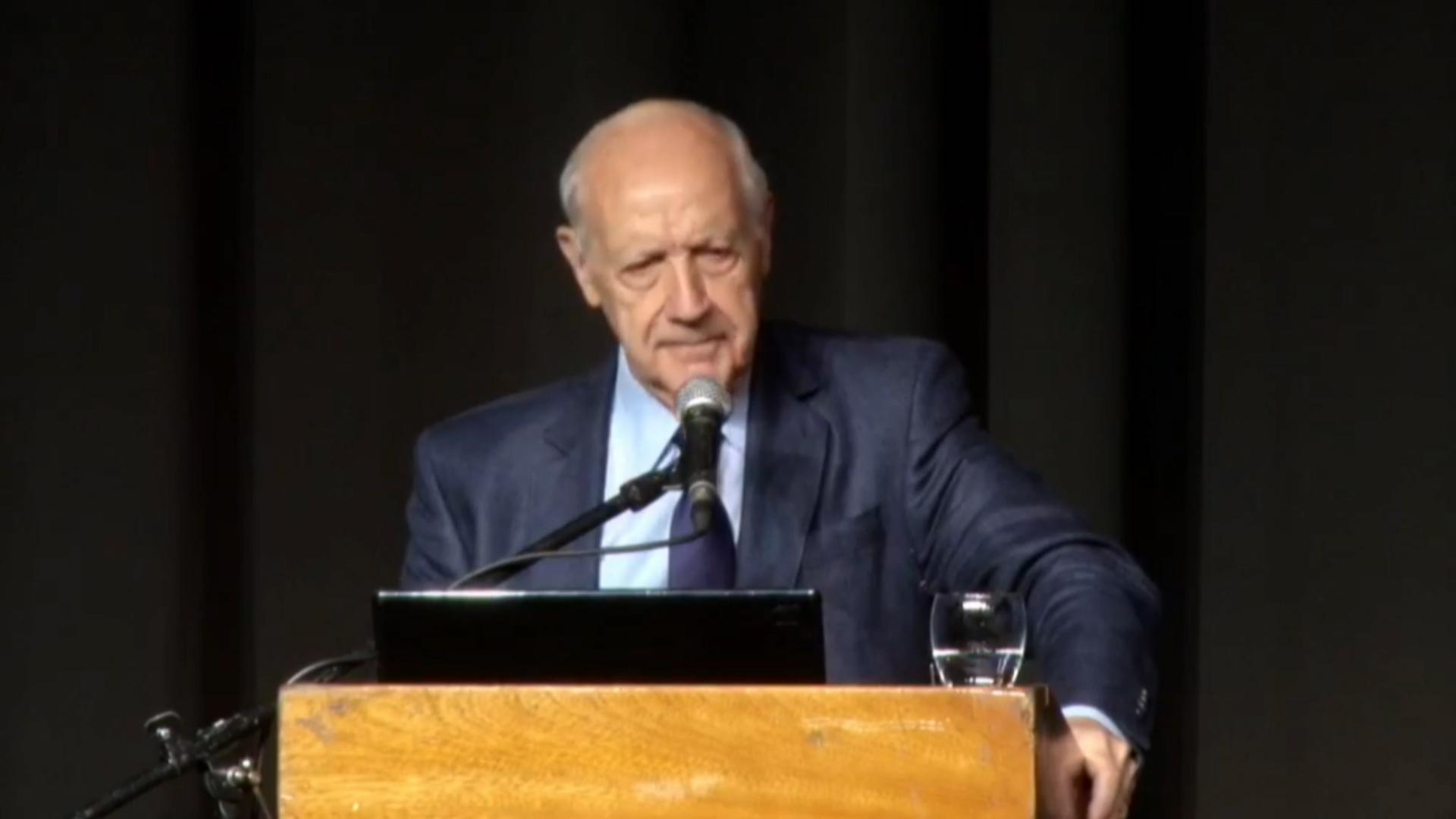 Roberto Lavagna habló en un almuerzo de la Fundación Mediterránea