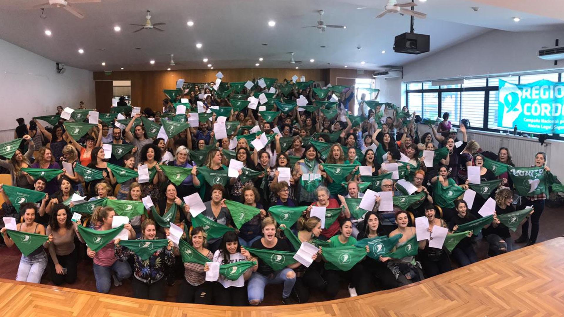 El plenario de la Campaña por el Aborto Legal, Seguro y Gratuito en Córdoba