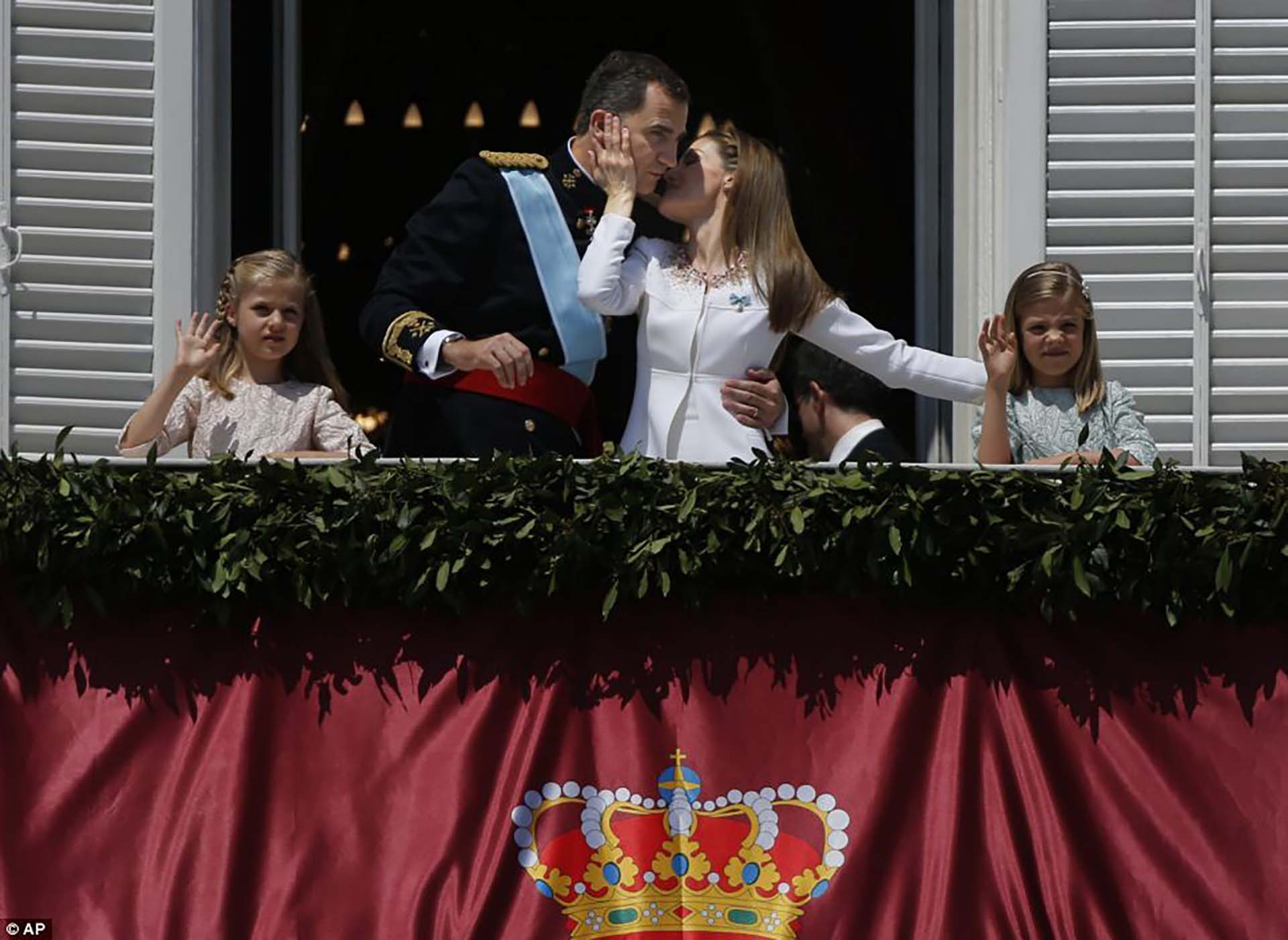 La postal familiar completa, Leonor, la próxima Reina de España y Sofía, princesa.