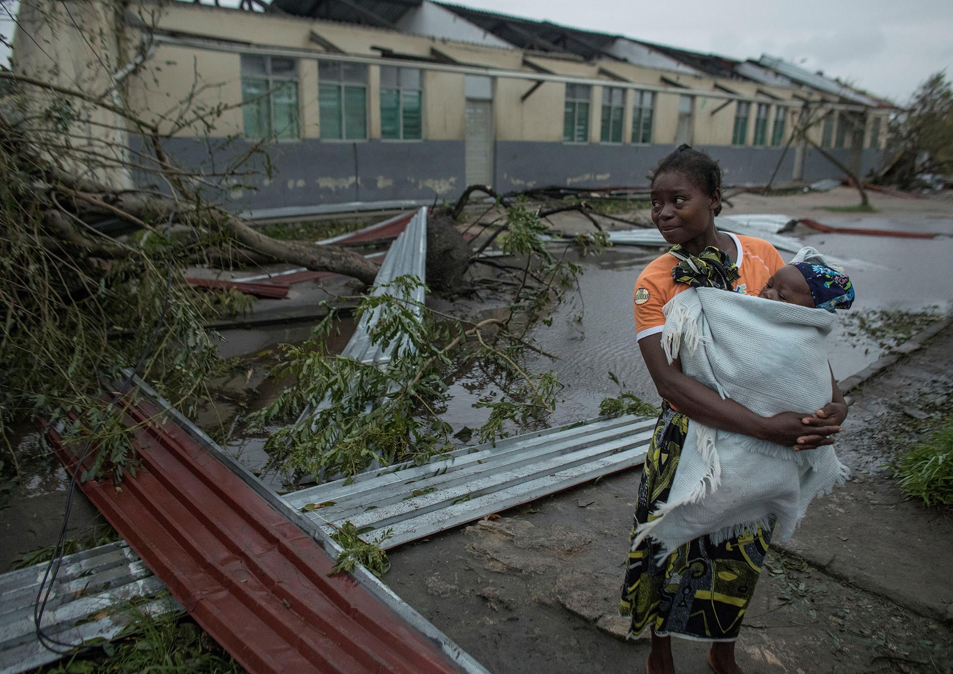 Las secuelas del ciclón Idai se muestran en Beira, Mozambique, el 16 de marzo de 2019.