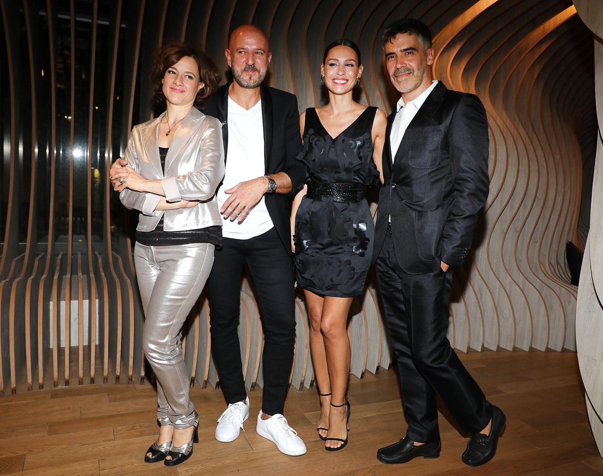 Fabian Zitta, junto a Pampita y Charly Fonseca
