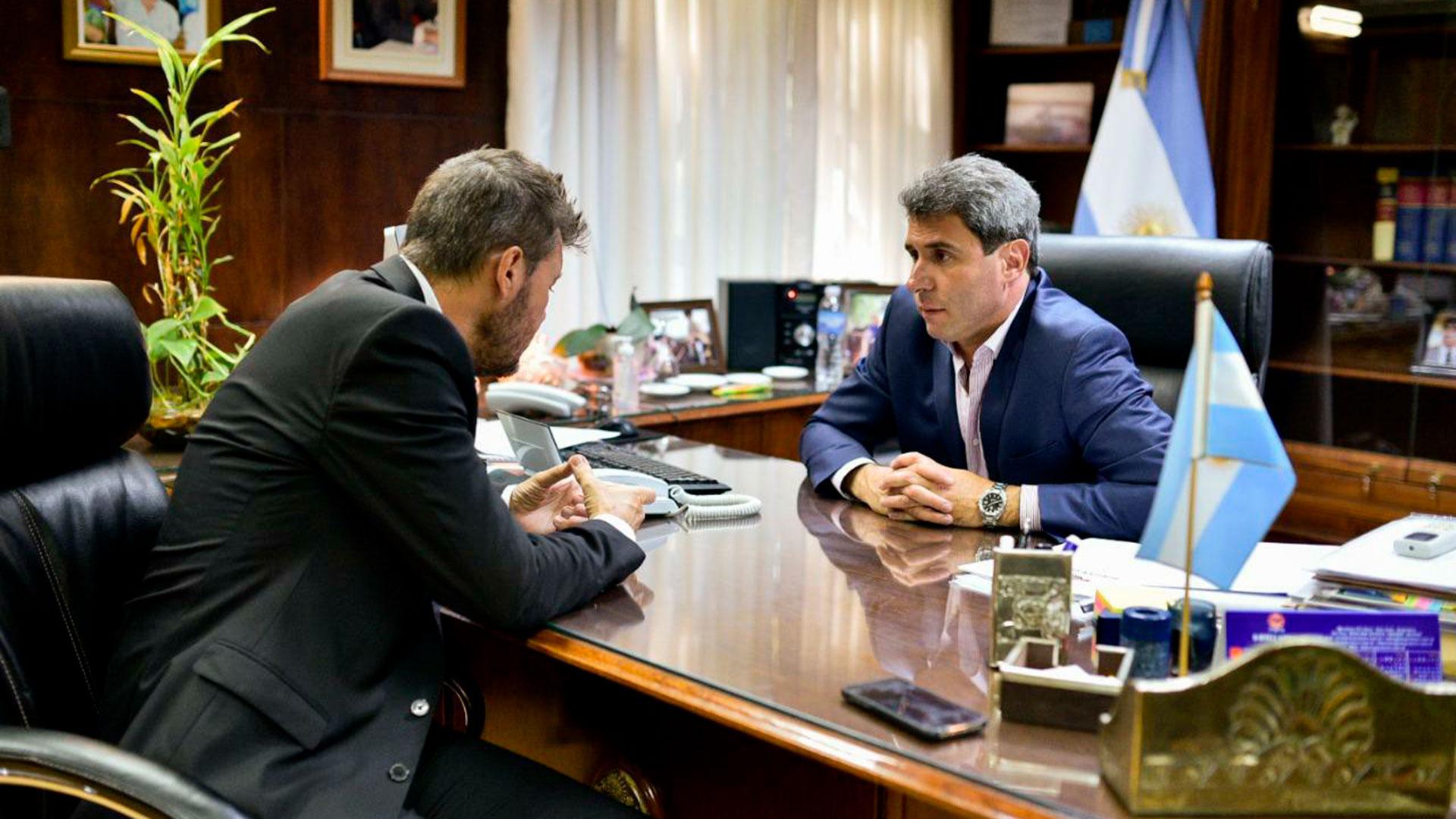 Marcelo Tinelli y Sergio Uñac