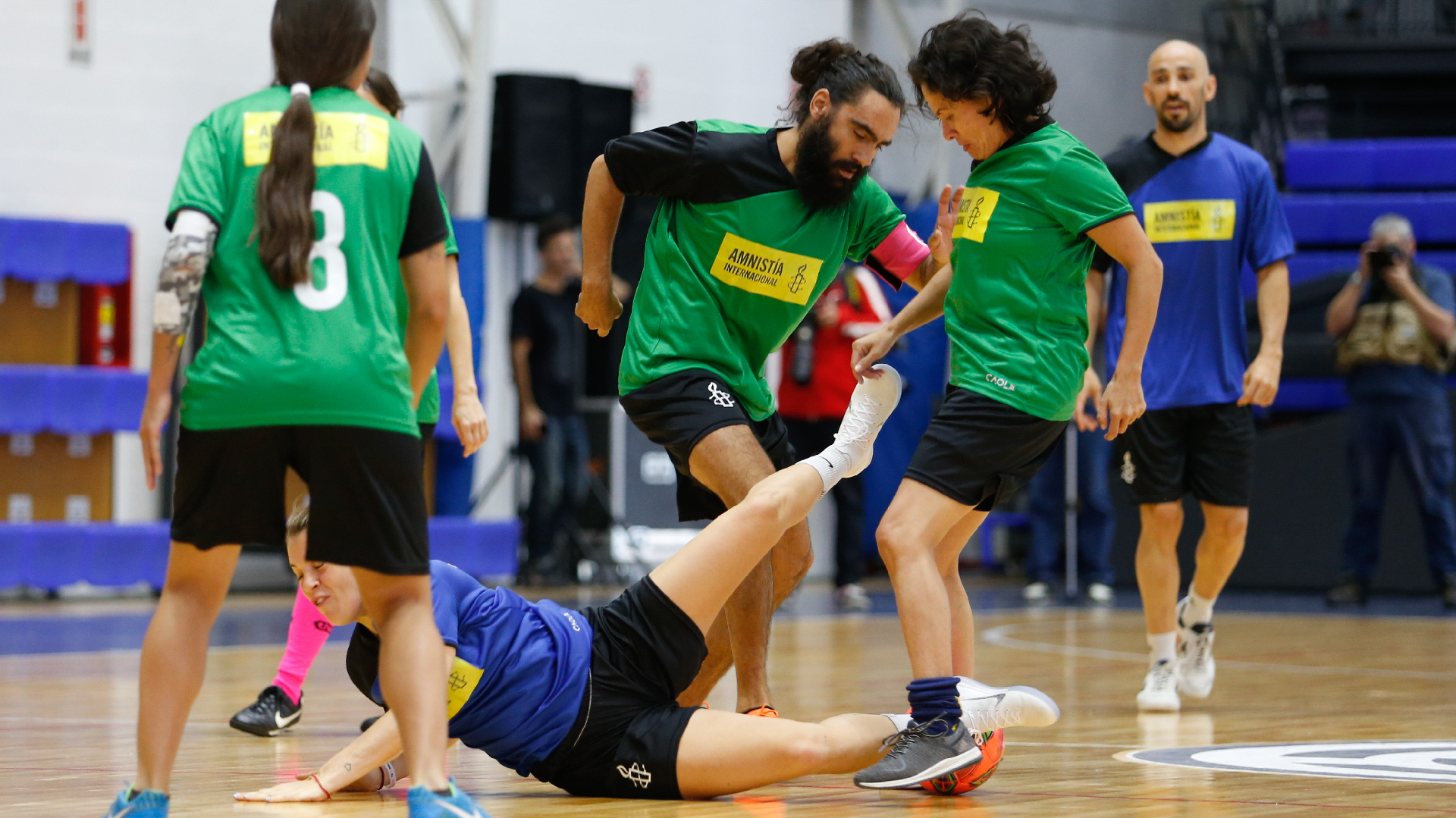 """Juan Pablo Sorín participó del evento """"Fútbol mixto por a igualdad"""" (Nicolás Aboaf)"""