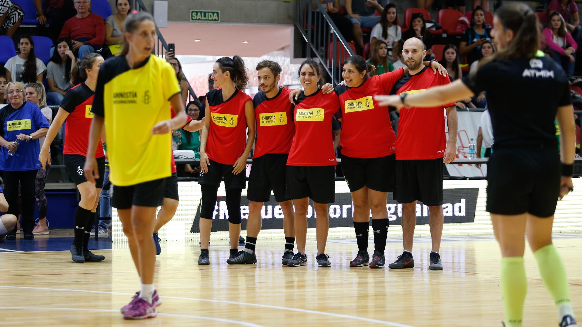 Participaron jugadores y jugadoras, artistas y periodistas (Nicolás Aboaf)