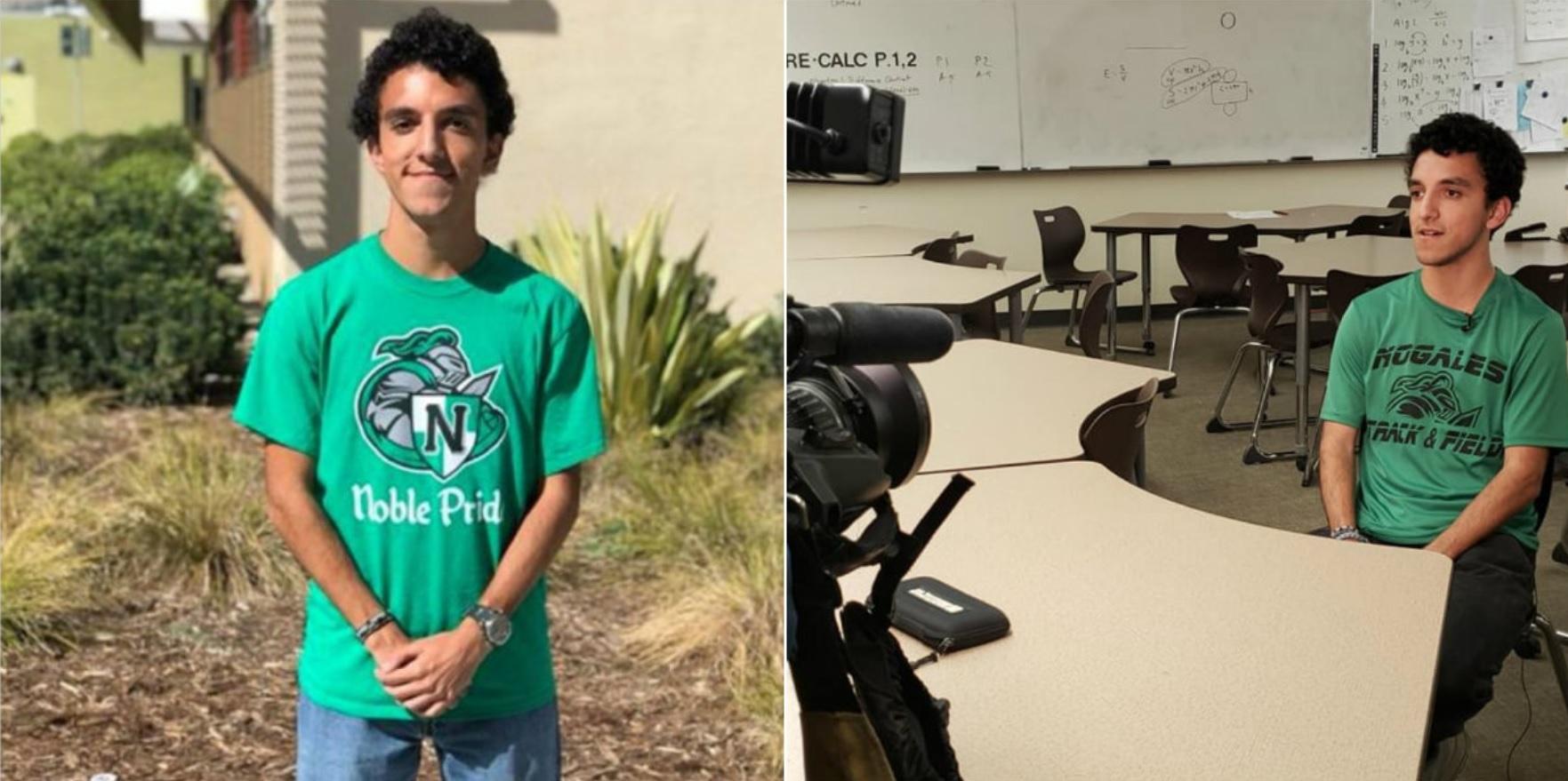 Osvaldo Cervantes fue aceptado por tres de las mejores universidades de EEUU, vive en una casa rodante con sus padres de origen mexicano Fotos: (Rowland Unified School District)