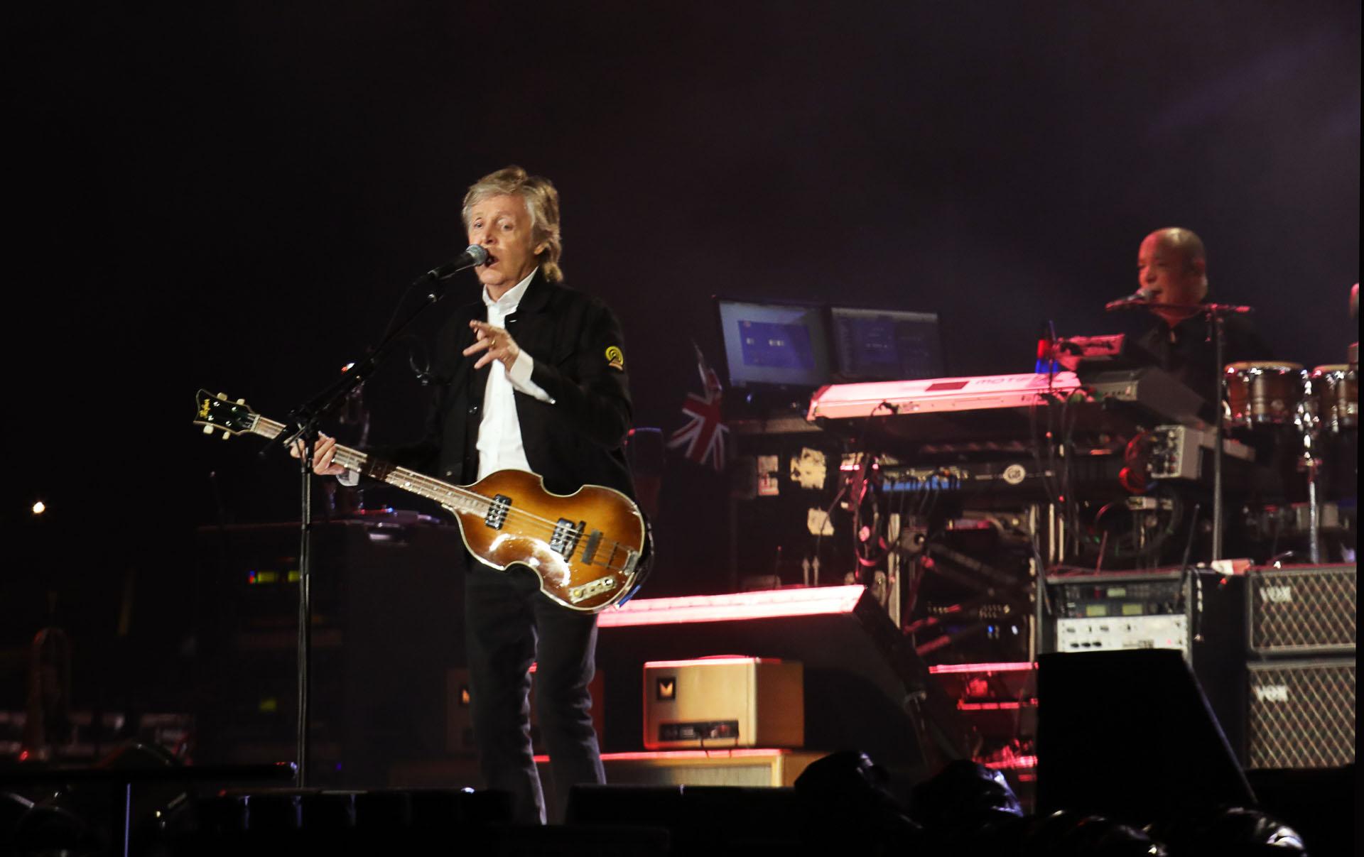 Se trata de la cuarta visita del ex Beatle al país: ya se había presentado en 1993, 2010 y 2016 (Christian Bochichio / Teleshow)