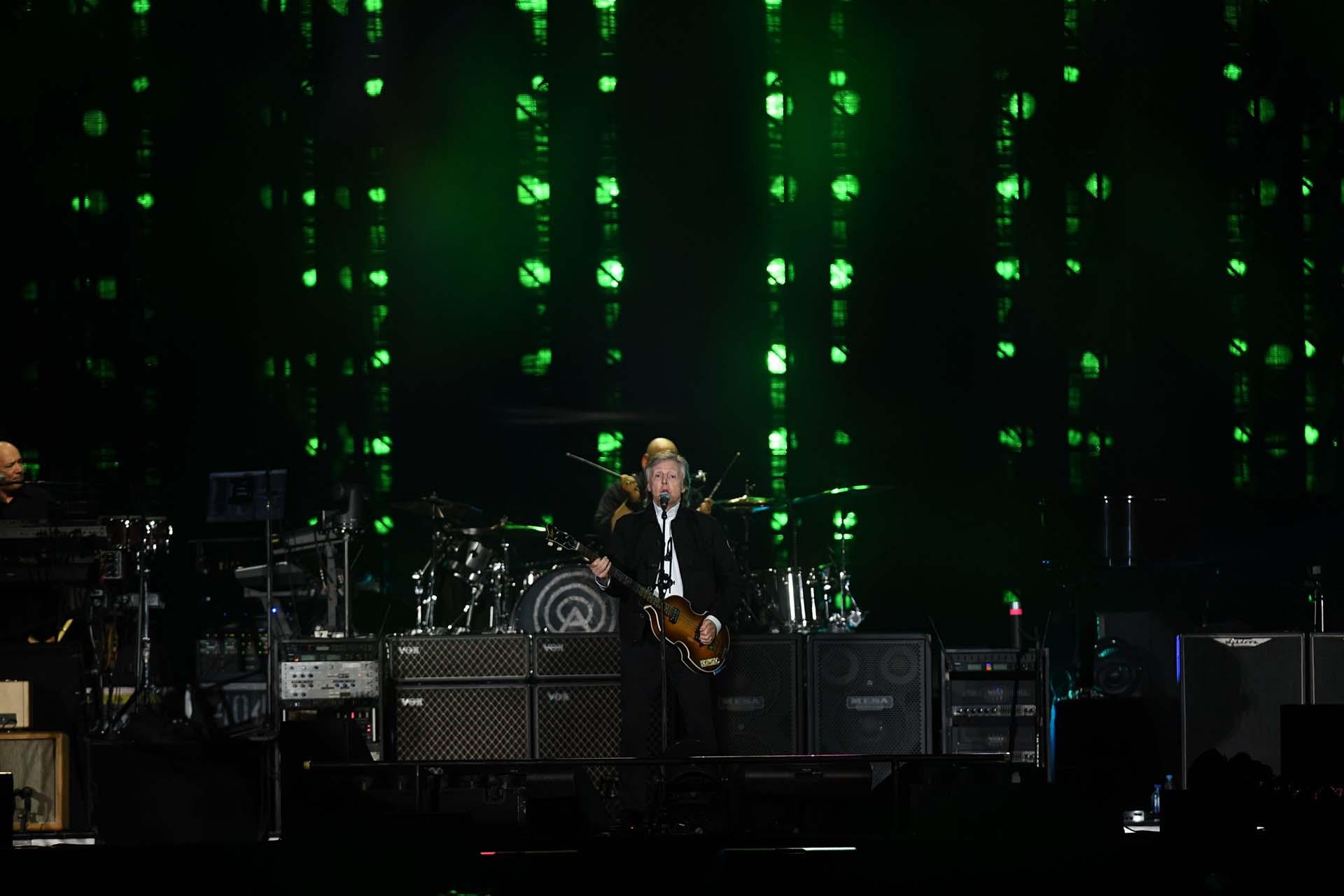 Paul McCartney armó una verdadera fiesta en el Campo Argentino de Polo (Télam)
