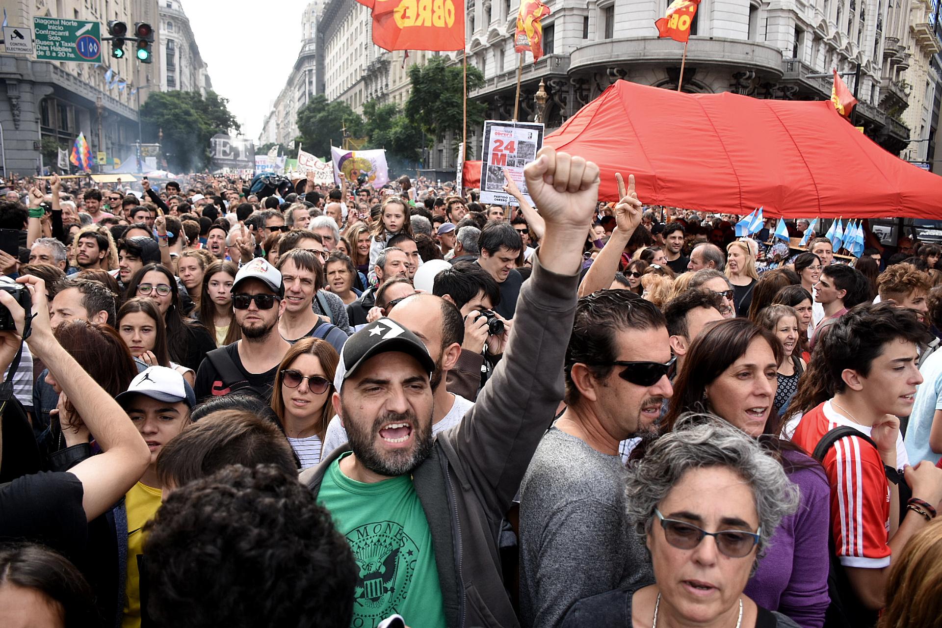 En el acto hubo agrupaciones de Izquierda, sindicatos y movimientos sociales