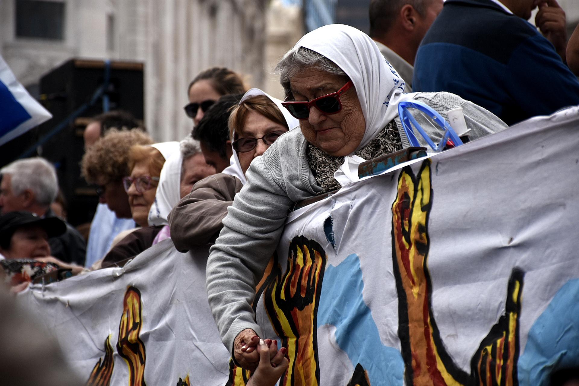 La titular de Madres de Plaza de Mayo, Hebe de Bonafini