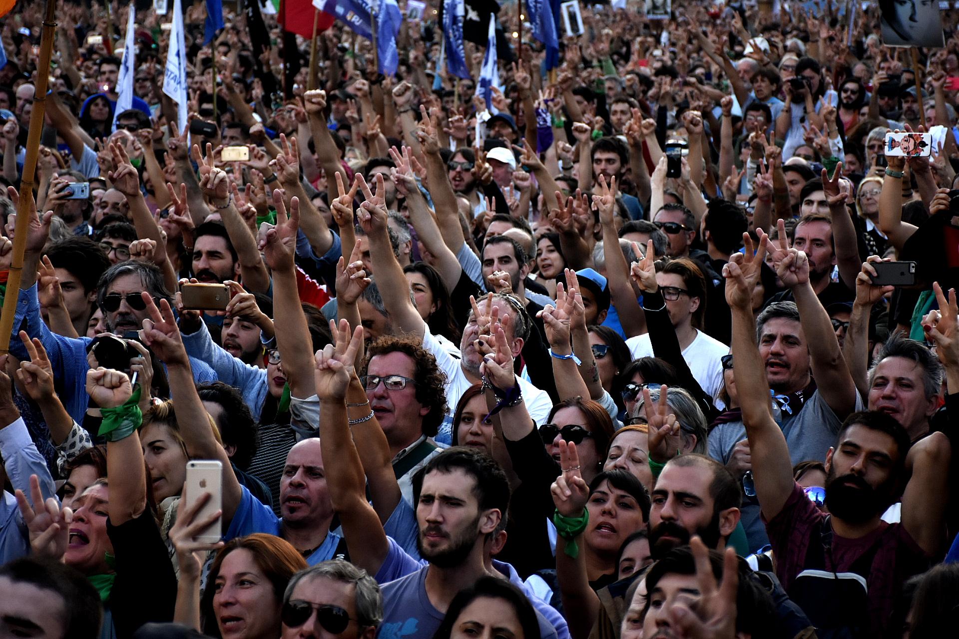 El acto tuvo críticas a Mauricio Macri, Horacio Rodríguez Larreta y Patricia Bullrich
