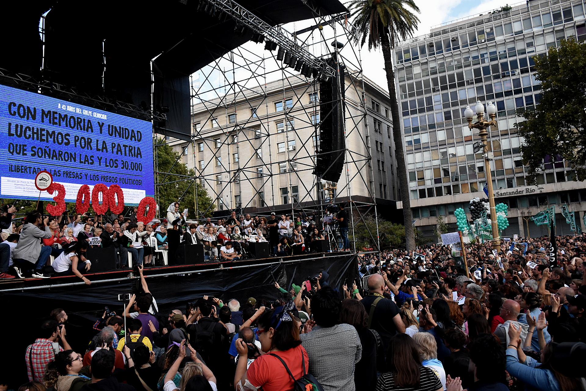 El escenario central donde estuvieron las Abuelas de Plaza de Mayo (Nicolás Stulberg)