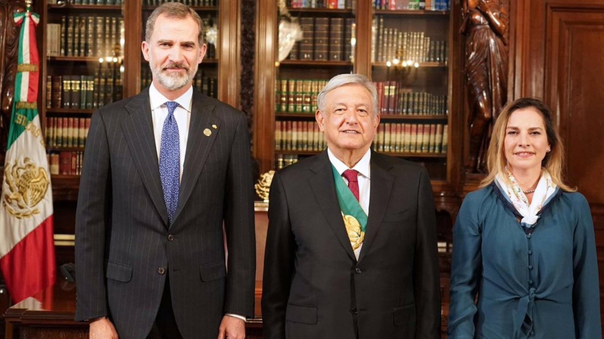 Felipe VI visitó México en diciembre para la toma de posesión de López Obrador (Foto: Presidencia del México)