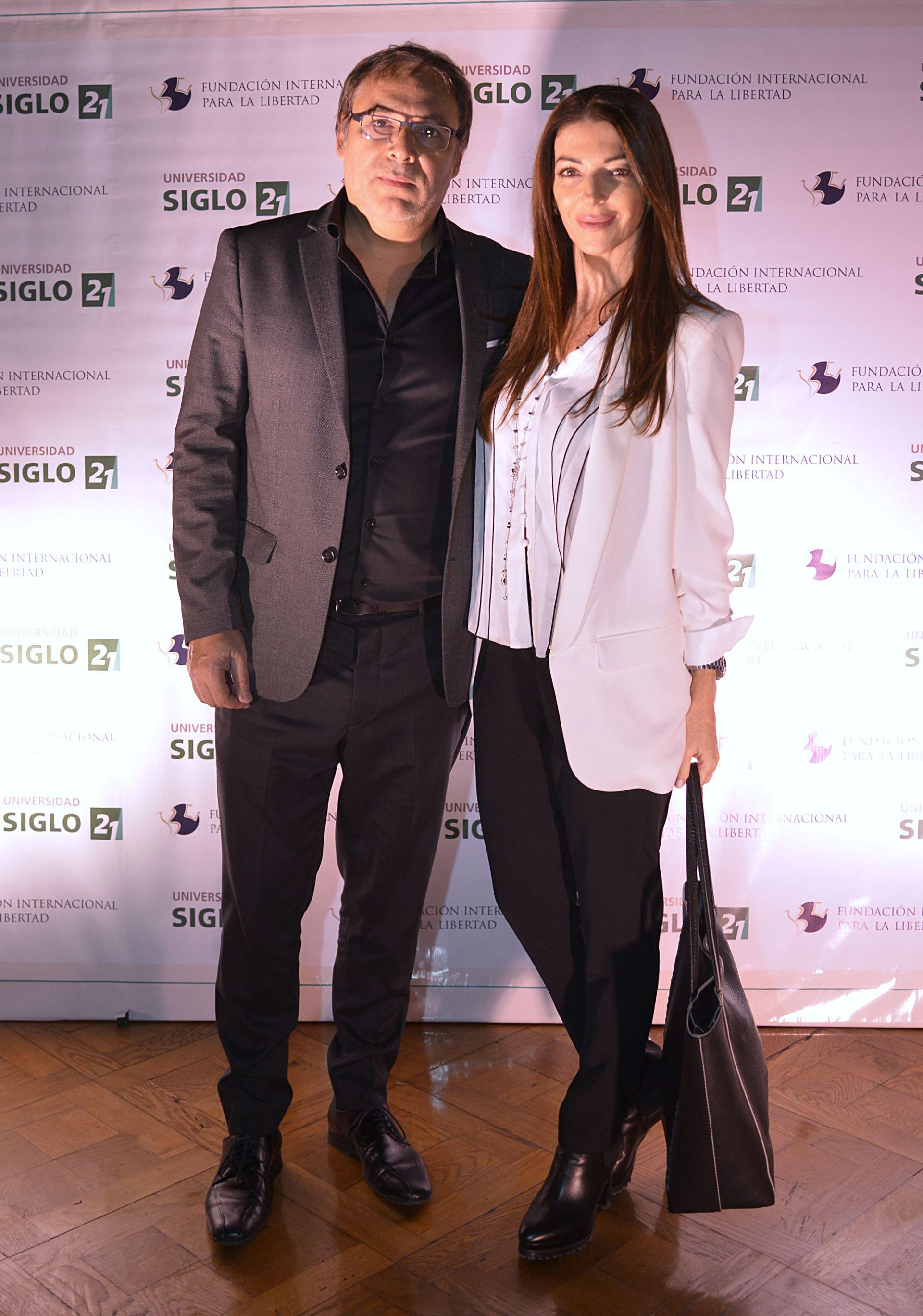 Gabriel Rolón y su mujer Cynthia
