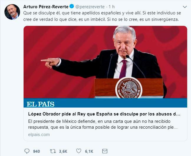 Escritor español insulta a AMLO; 'tiene apellidos españoles y vive allí', dice
